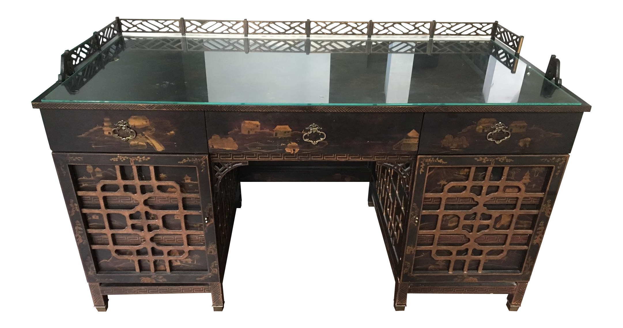 Drexel heritage mandalay asian chinoiserie desk chairish for Asian inspired desk