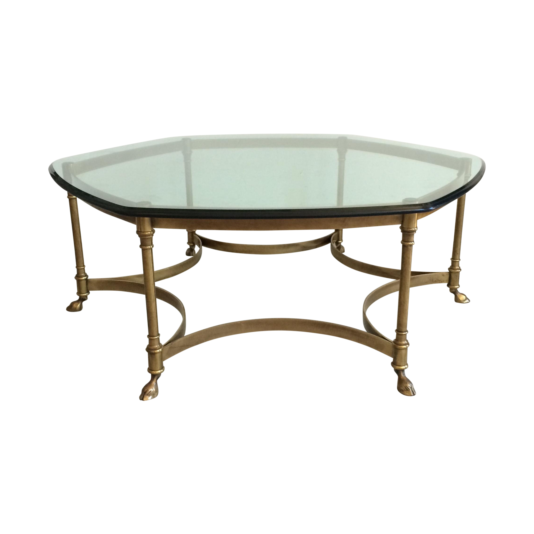 Pristine Brass Coffee Table With Hooves