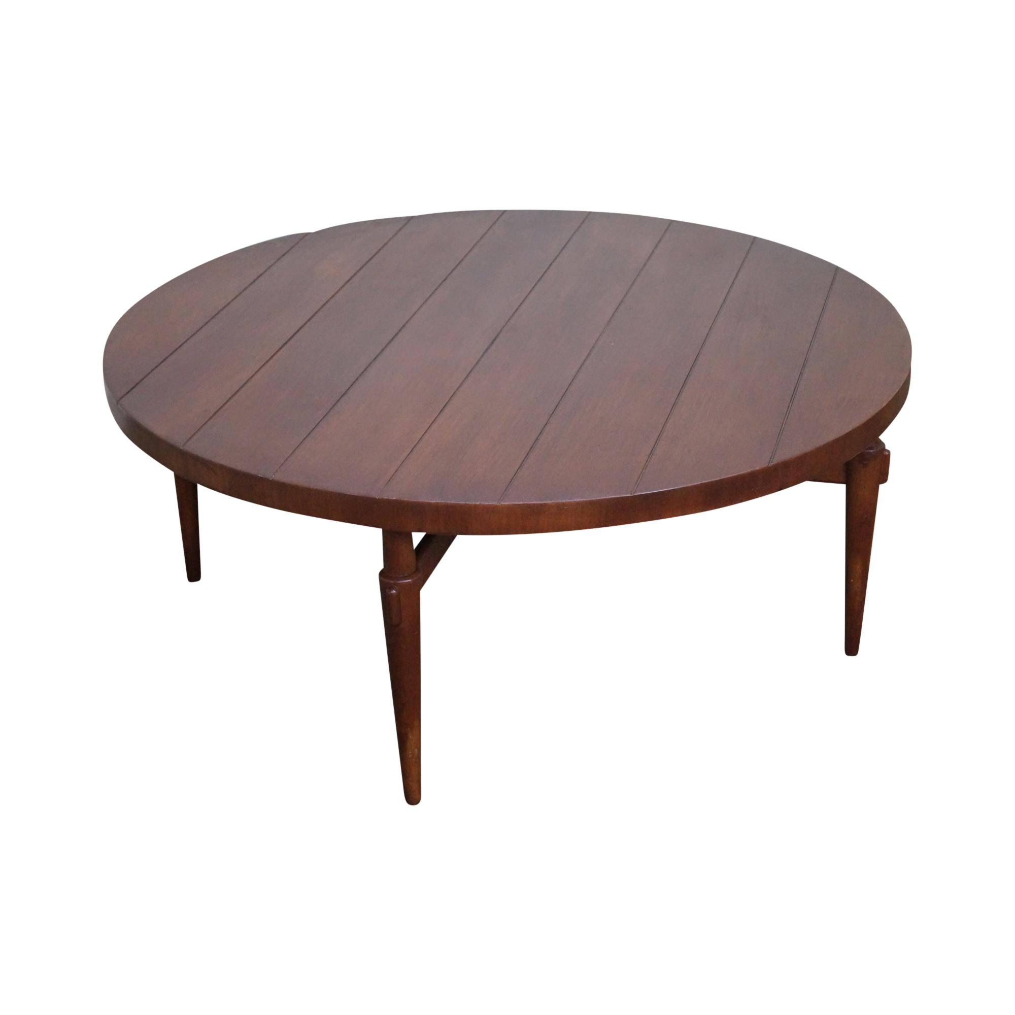 Mid Century Modern Round Coffee Tables: Lane Mid-Century Modern Round Coffee Table