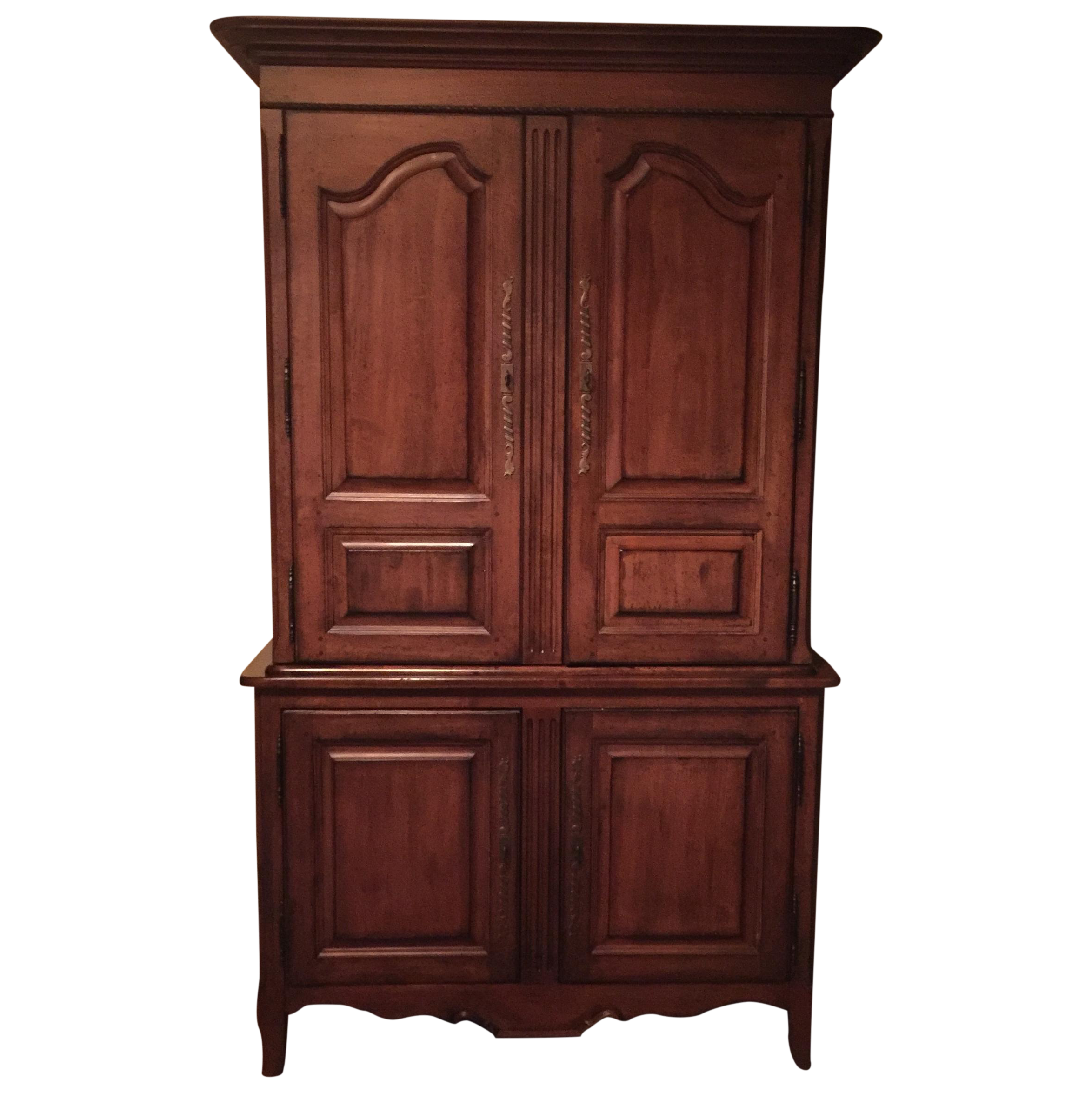 Lexington traditional large cherry wood armoire chairish