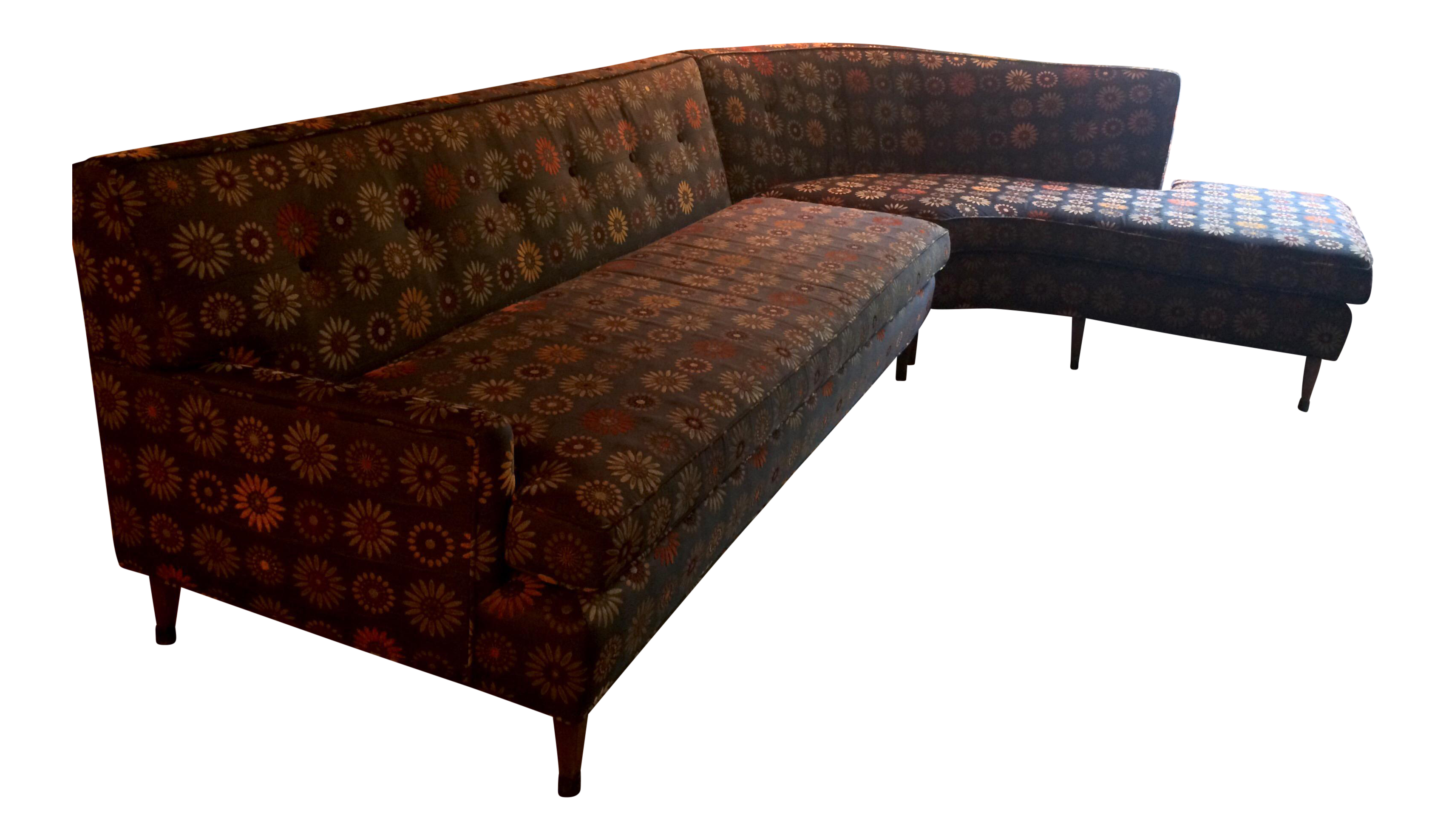 Mid century modern curved sectional sofa vintage re for Mid century modern curved sectional sofa