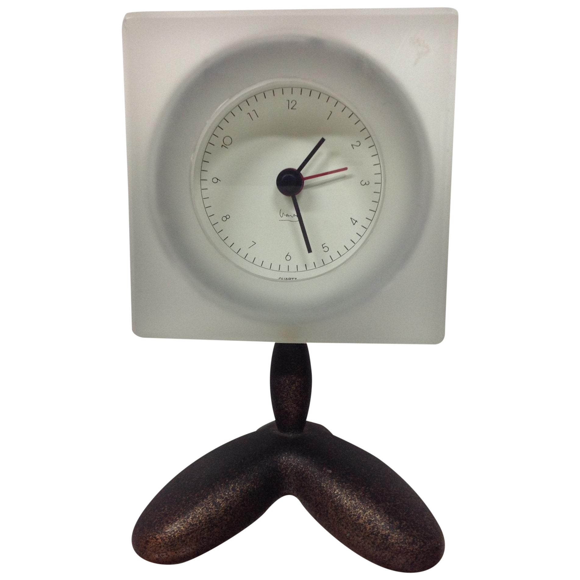 wendell castle style post modern clock by michael graves  chairish - image of wendell castle style post modern clock by michael graves