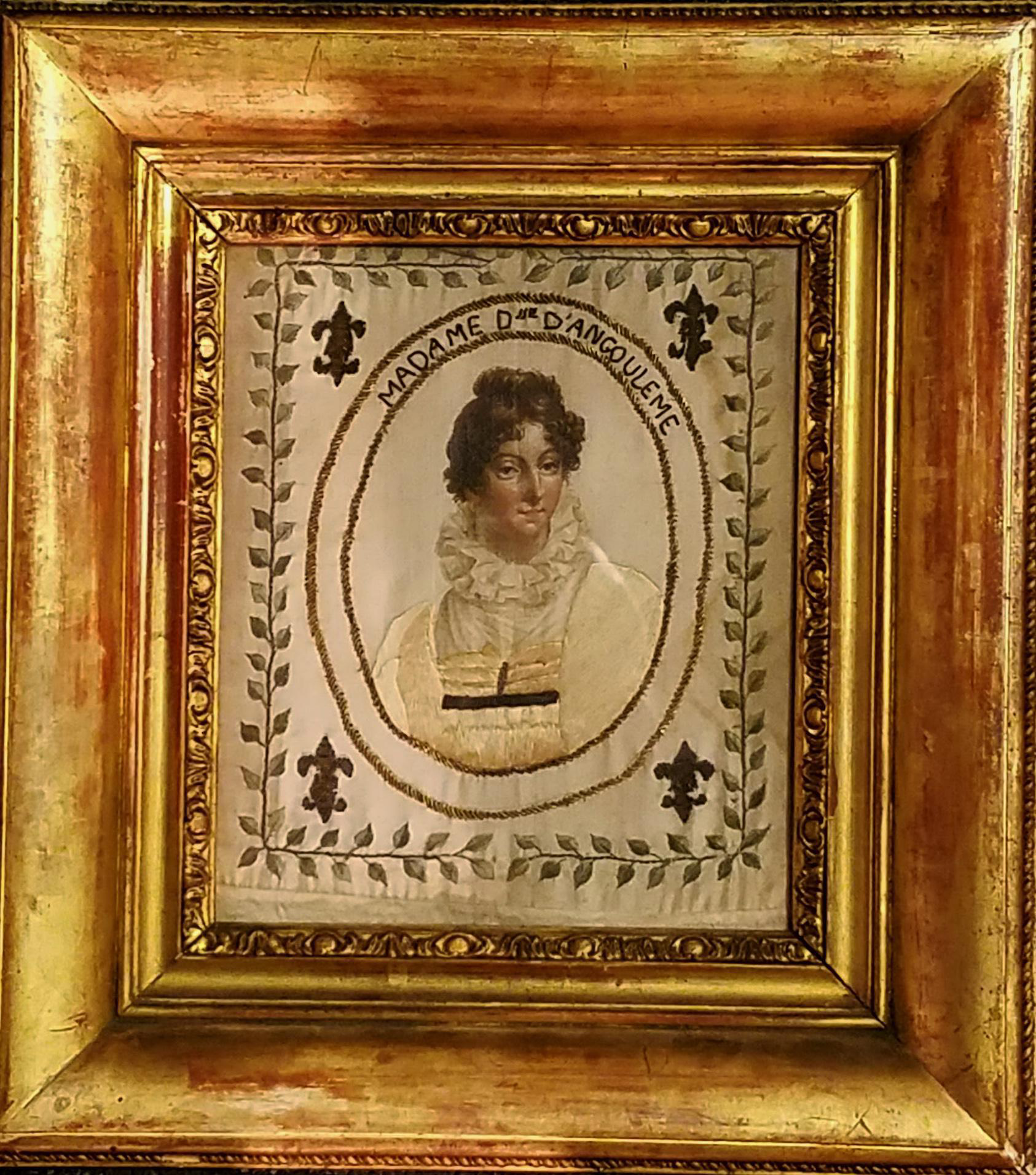 French Royal Painted Silk Textile Portrait Marie Th 233 R 232 Se