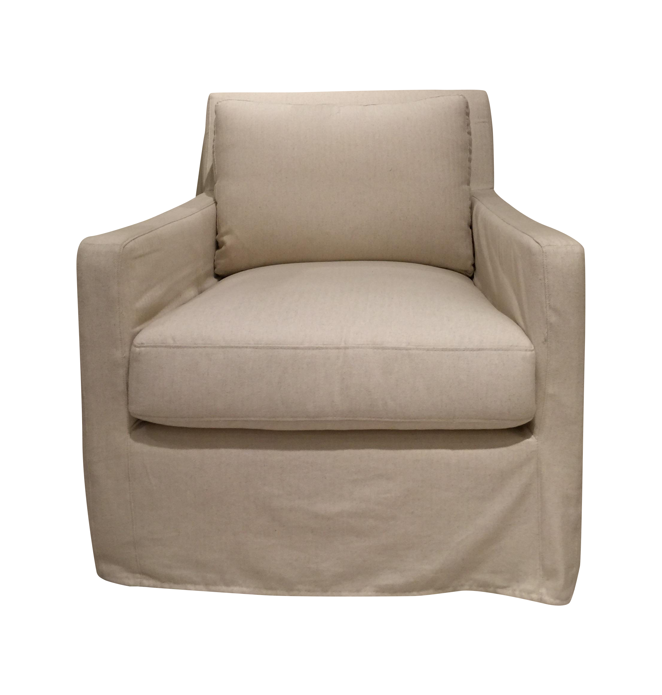 Bernhardt transitional slip covered lounge chair chairish for Bernhardt chaise lounge
