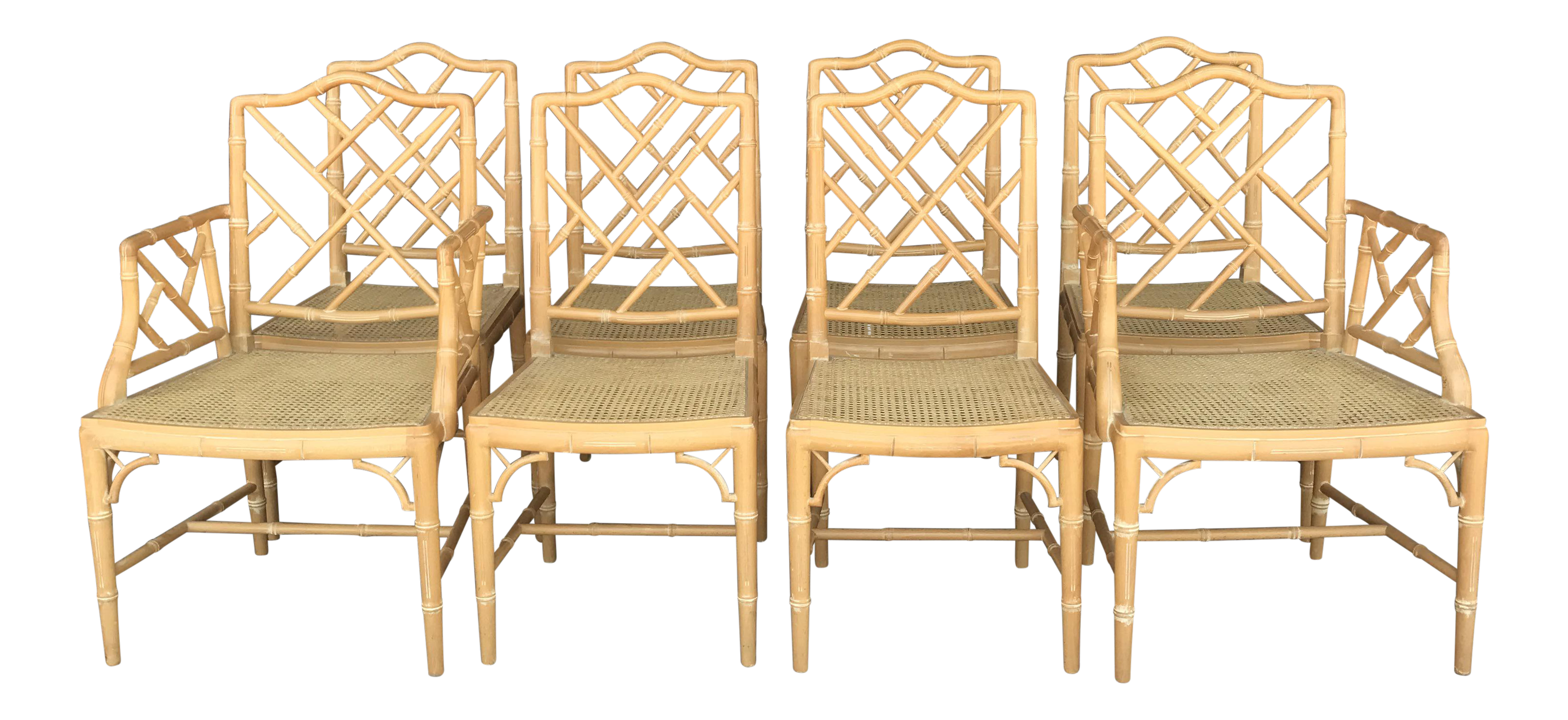 Vintage Chinese Chippendale Dining Chairs Set Of 8 Chairish