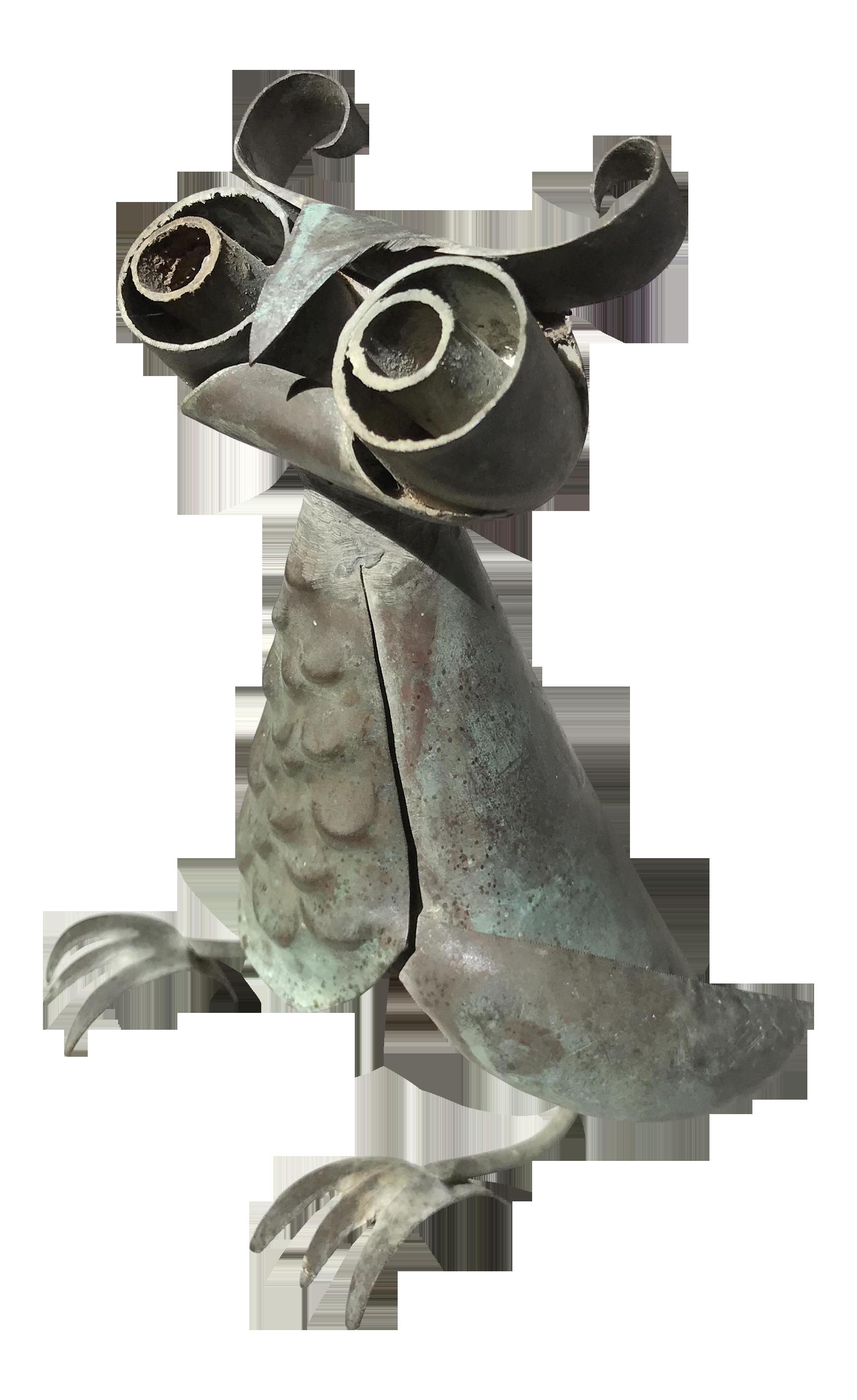 Vintage Metal Owl Sculpture Chairish