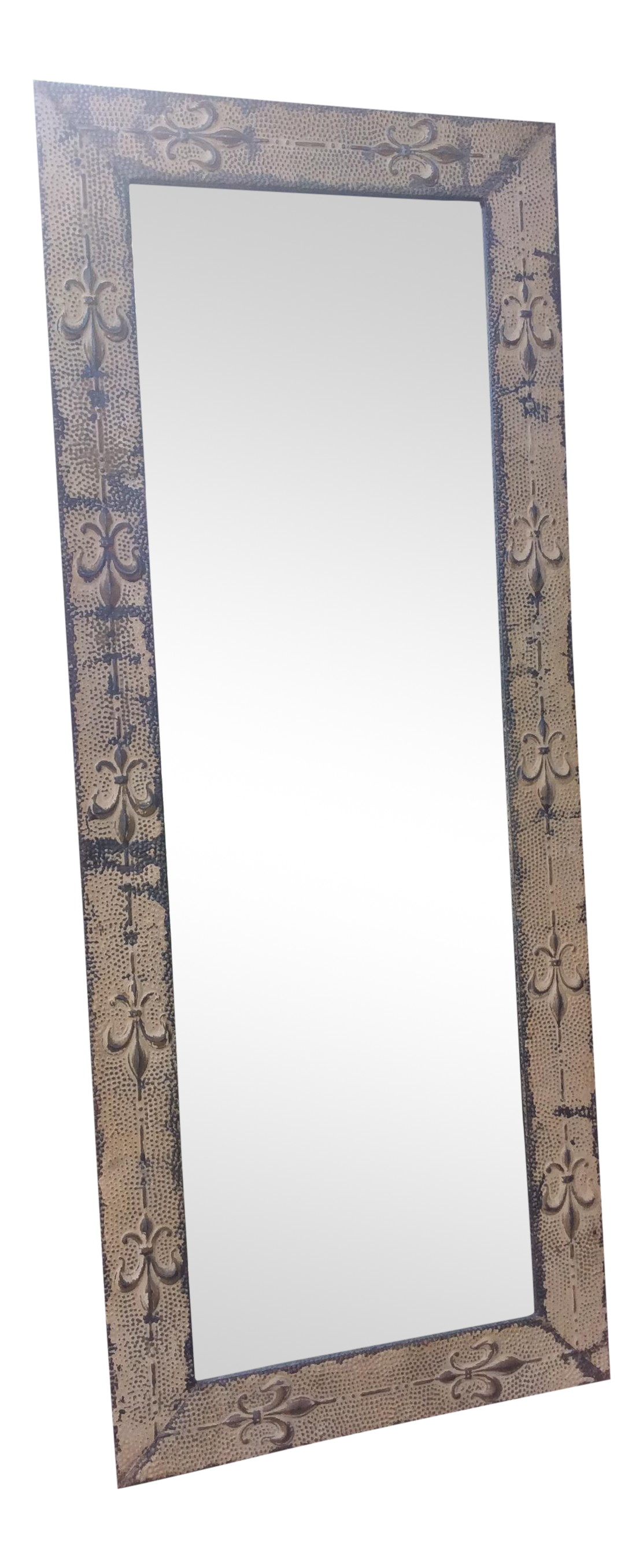 Antique tin ceiling tile mirror chairish dailygadgetfo Image collections