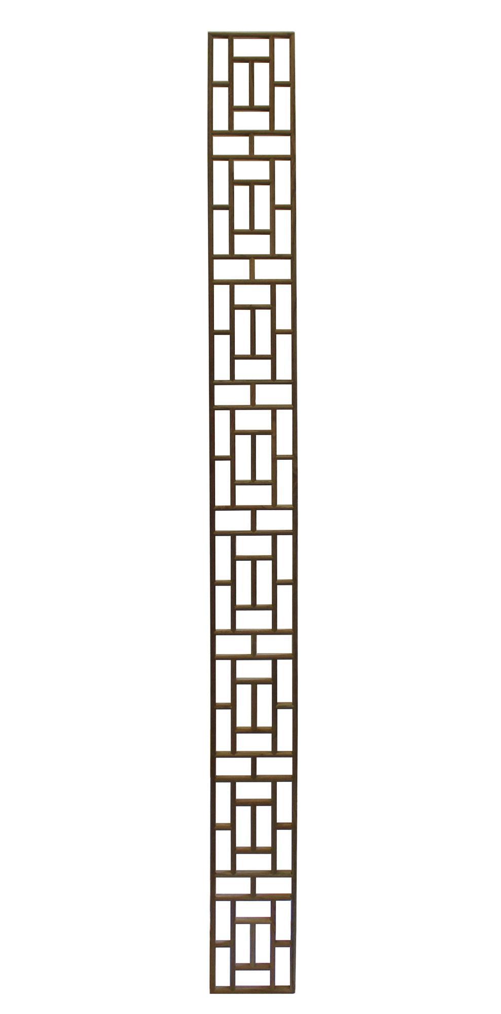 Narrow Long Rectangular Plain Wood Geometric Pattern Wall