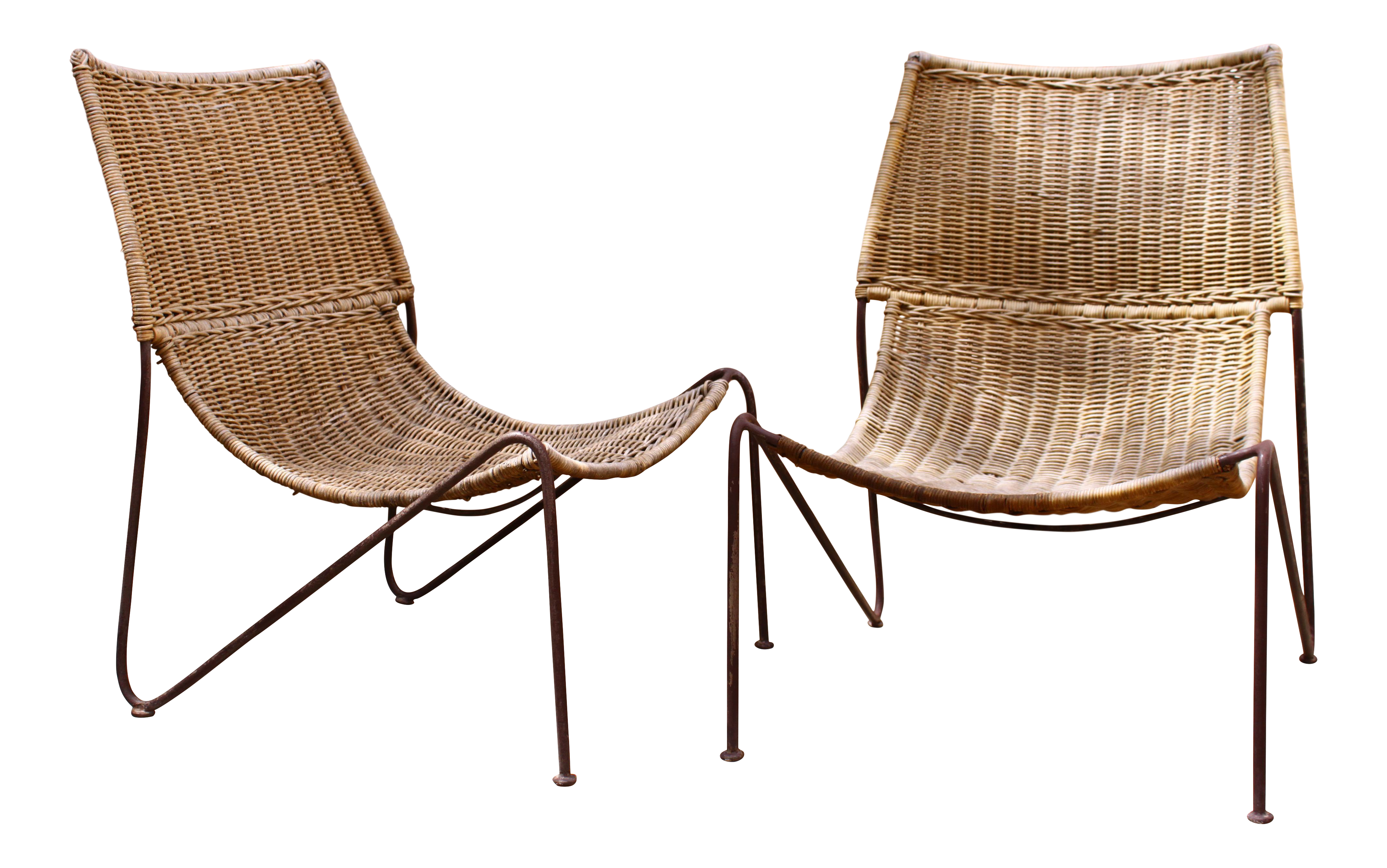 Frederick Weinberg Sling Chairs A Pair