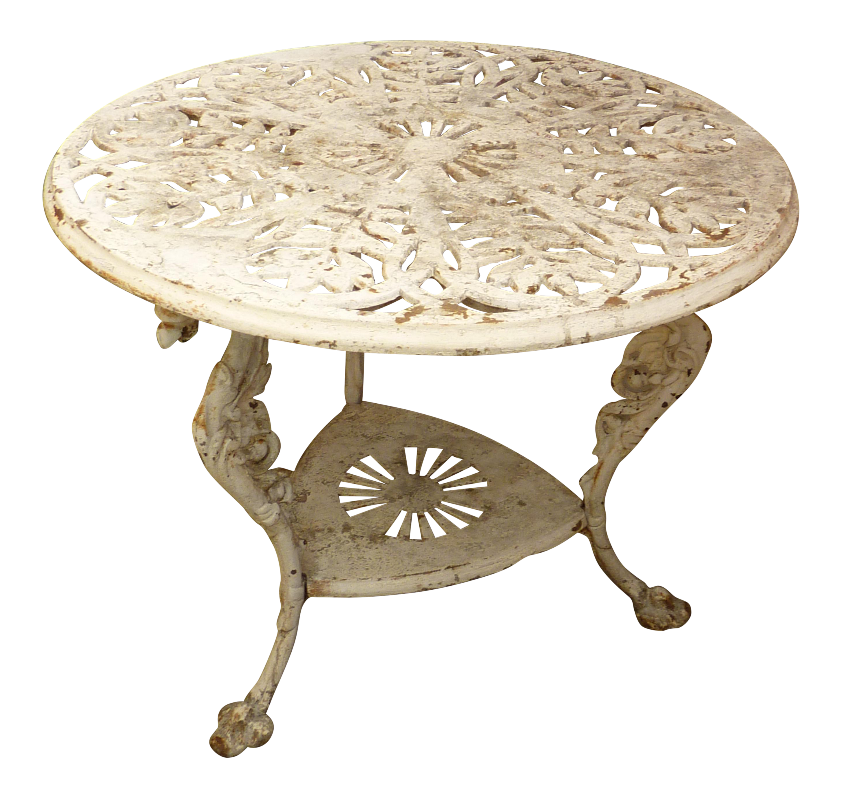 Antique Cast Iron Garden Table Chairish
