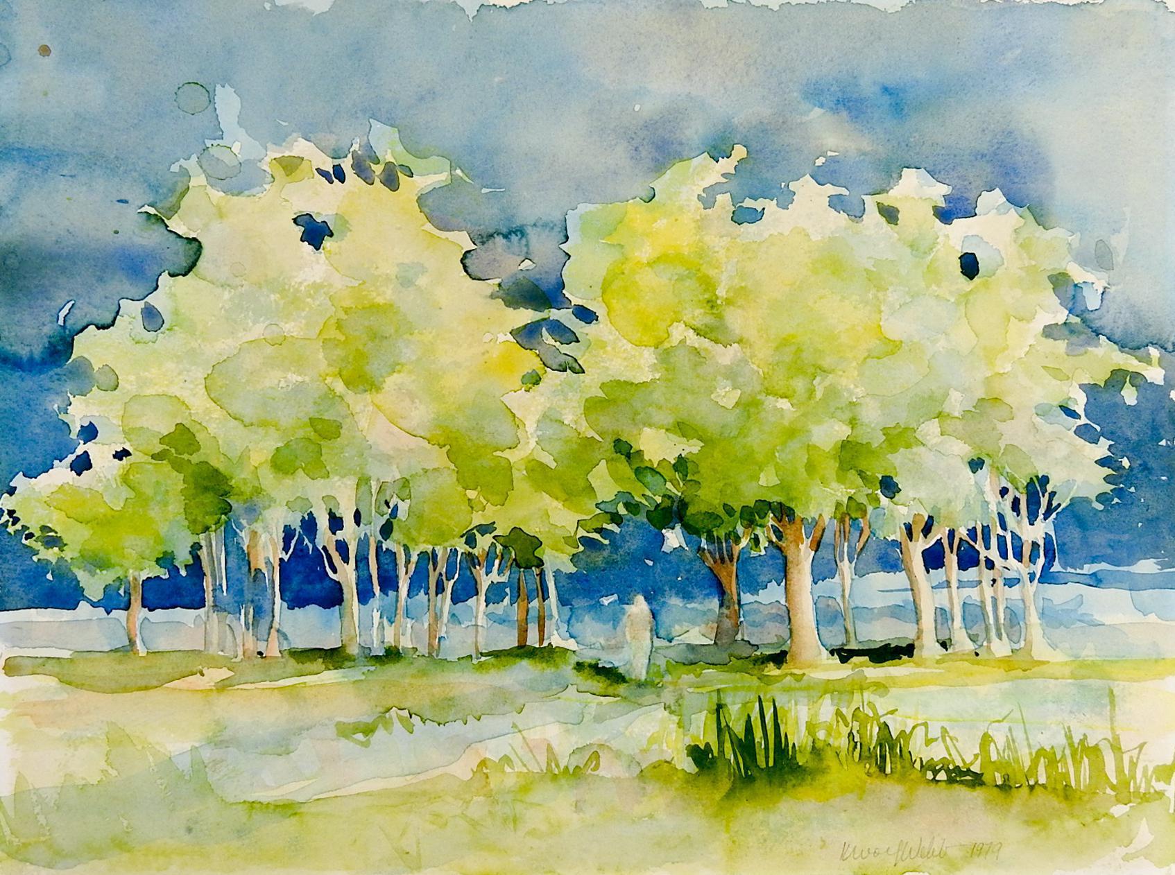 Plein Air Watercolor Landscape Painting Chairish