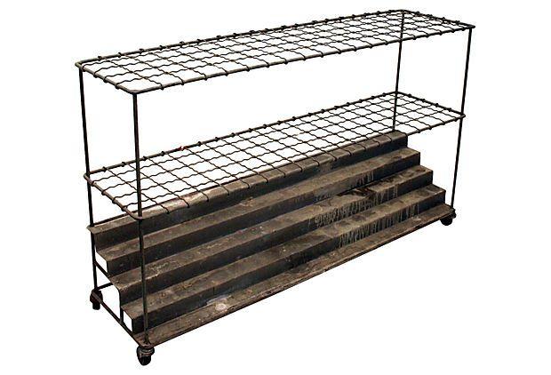 Industrial Architectural Plan Storage Cart Chairish