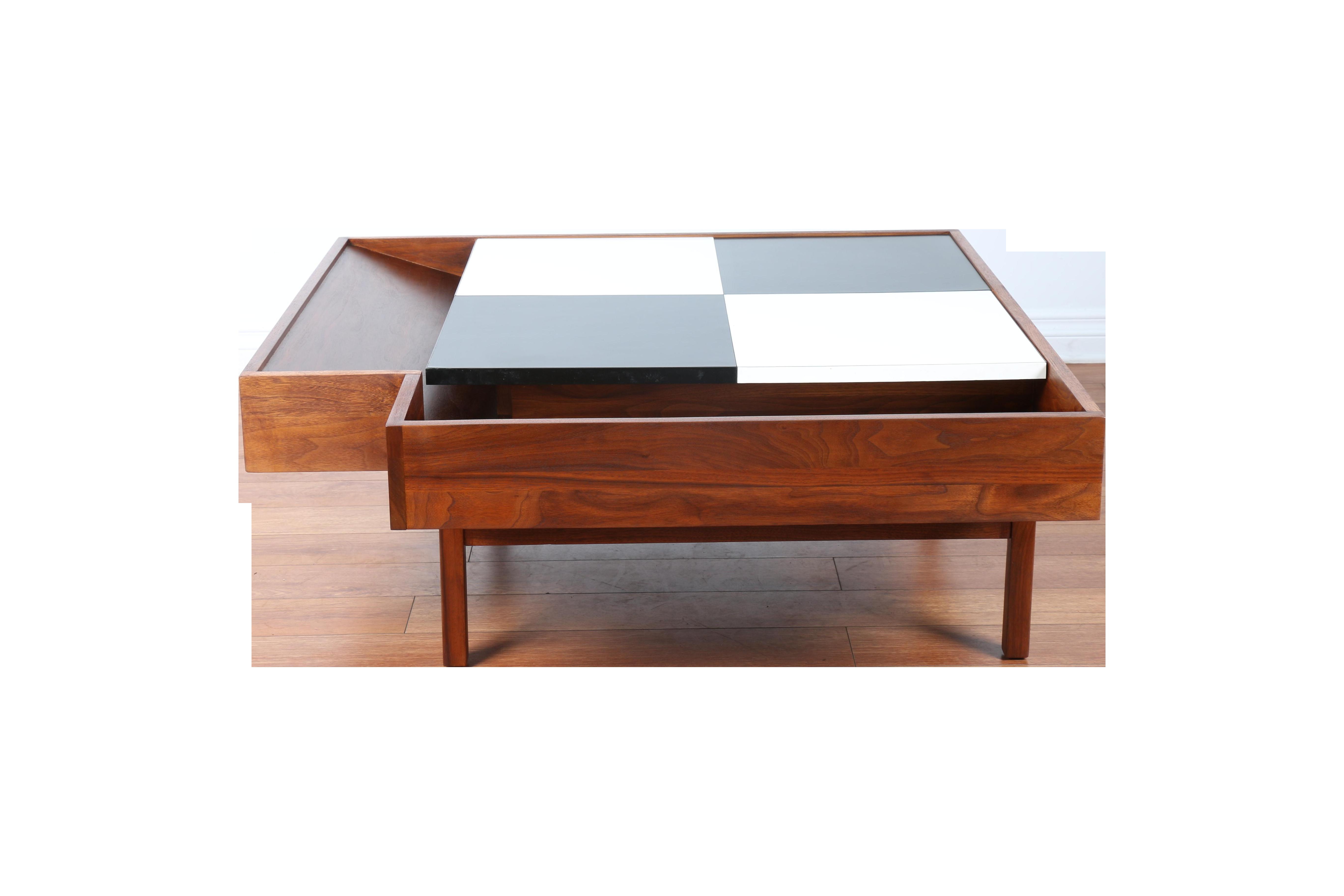 John Keal for Brown Saltman Checkered Coffee Table