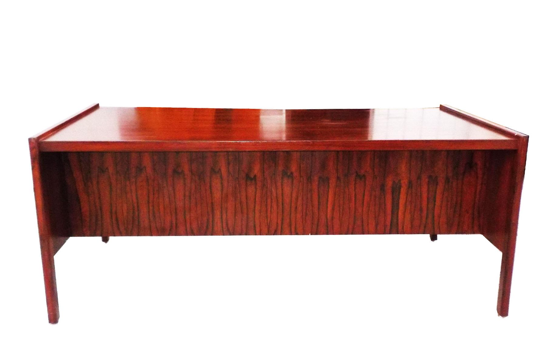 Danish Modern Cherry Wood Mid Century Modern Desk Chairish