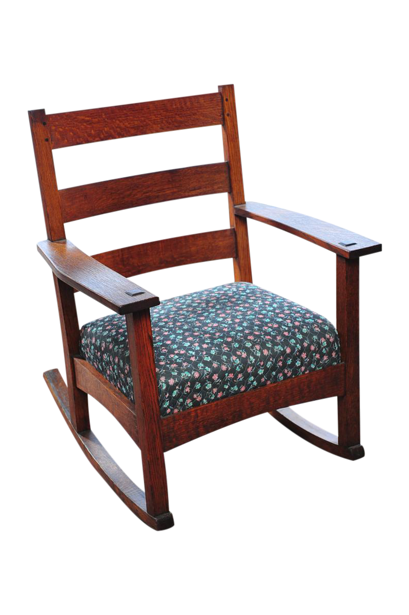Arts and crafts furniture chair - Image Of Antique Arts Craft Mission Oak Rocking Chair