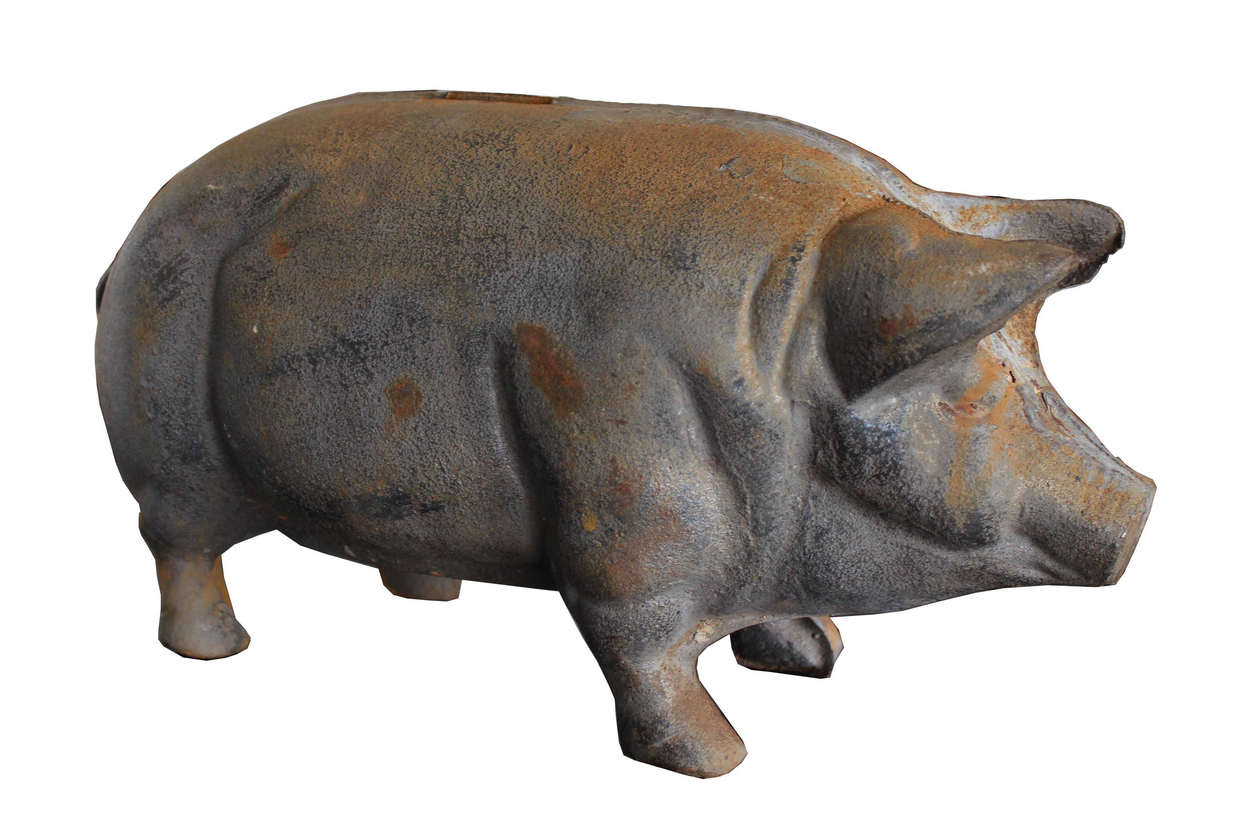Antique Large Cast Iron Pig Bank Chairish