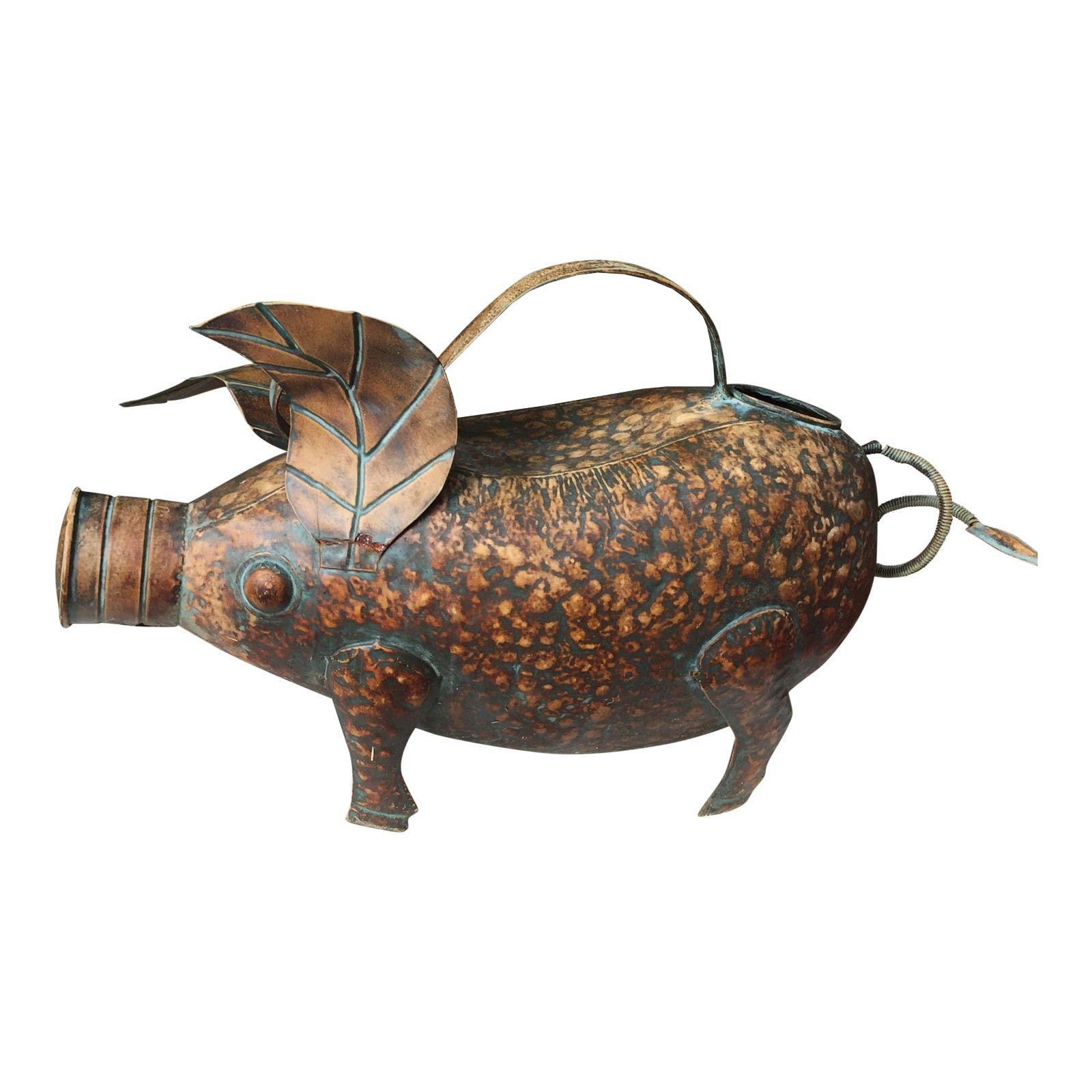 Vintage Copper Pig Watering Can Chairish