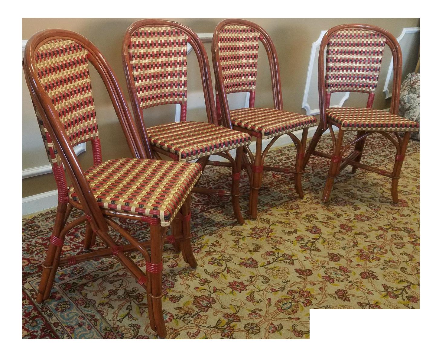 Louis cane back dining chair set of 2 ballard designs - Glac Seat Poitoux Parisian Style Caned Rattan Bistro Chairs Set