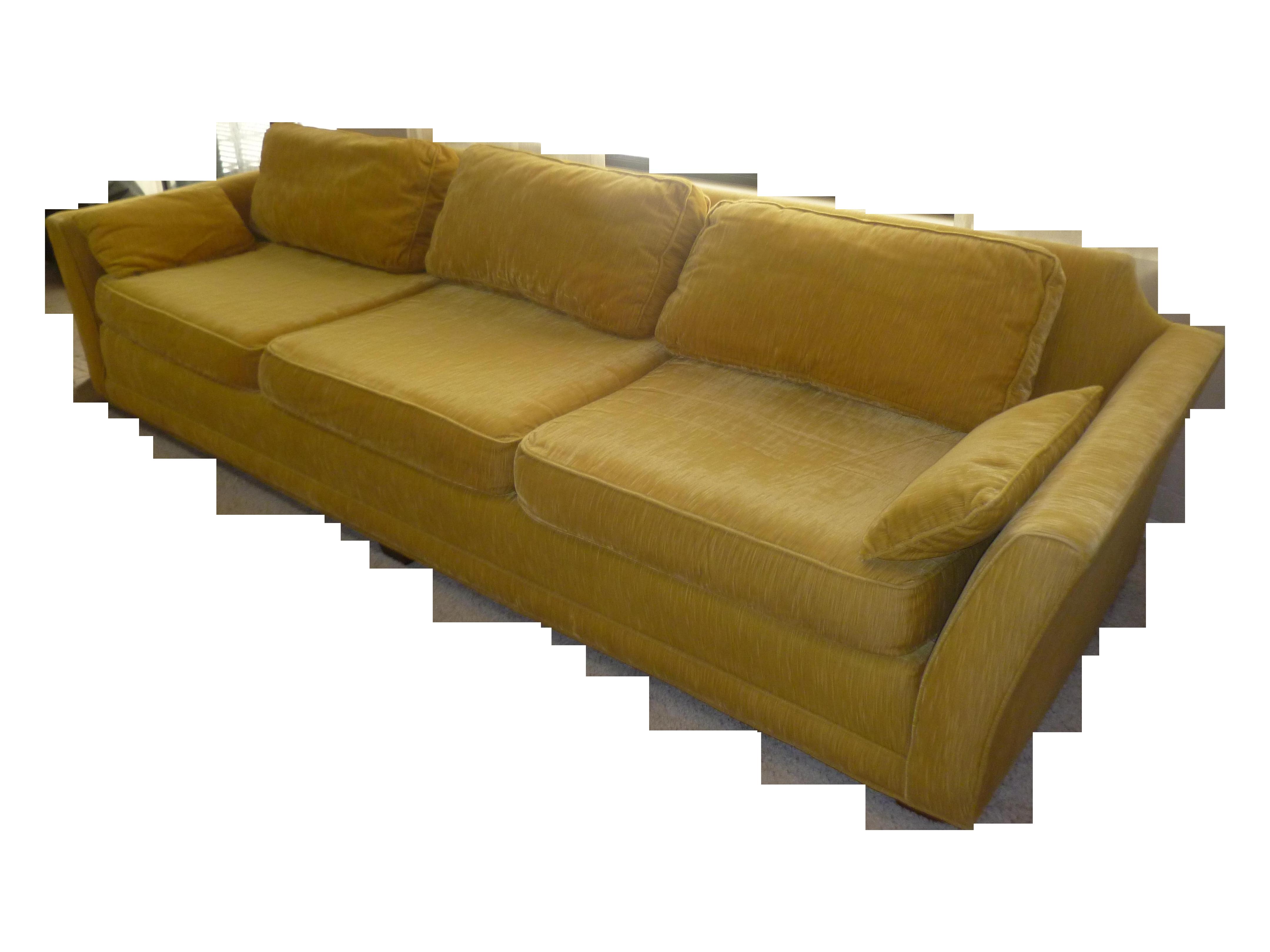 Marge Carson Sofa With Down Pillows Chairish