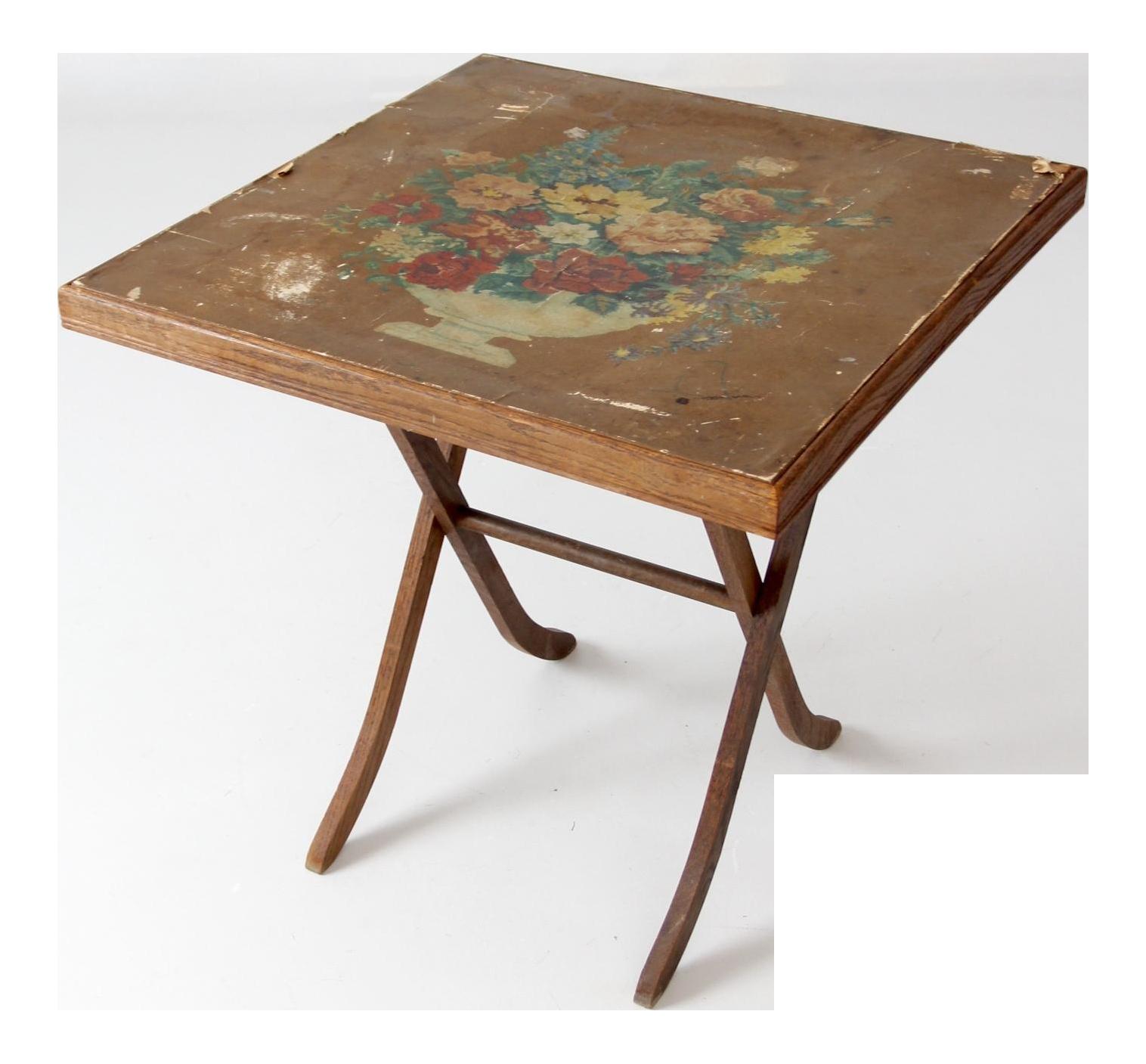 Vintage Floral Folding Table