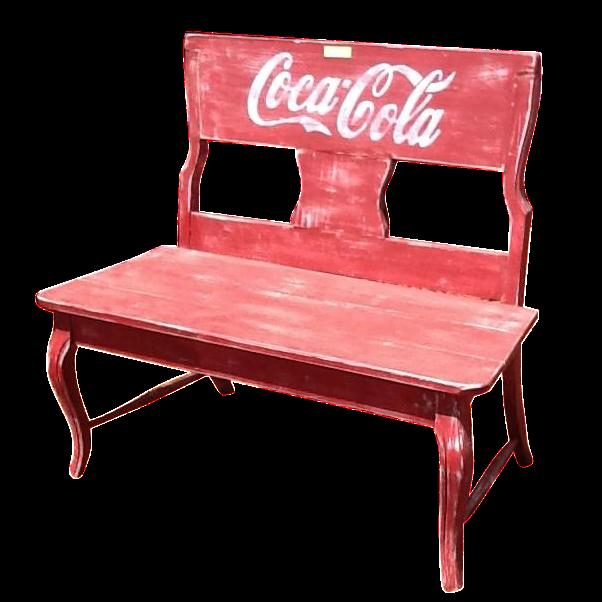 Rustic Coca Cola Bench Chairish