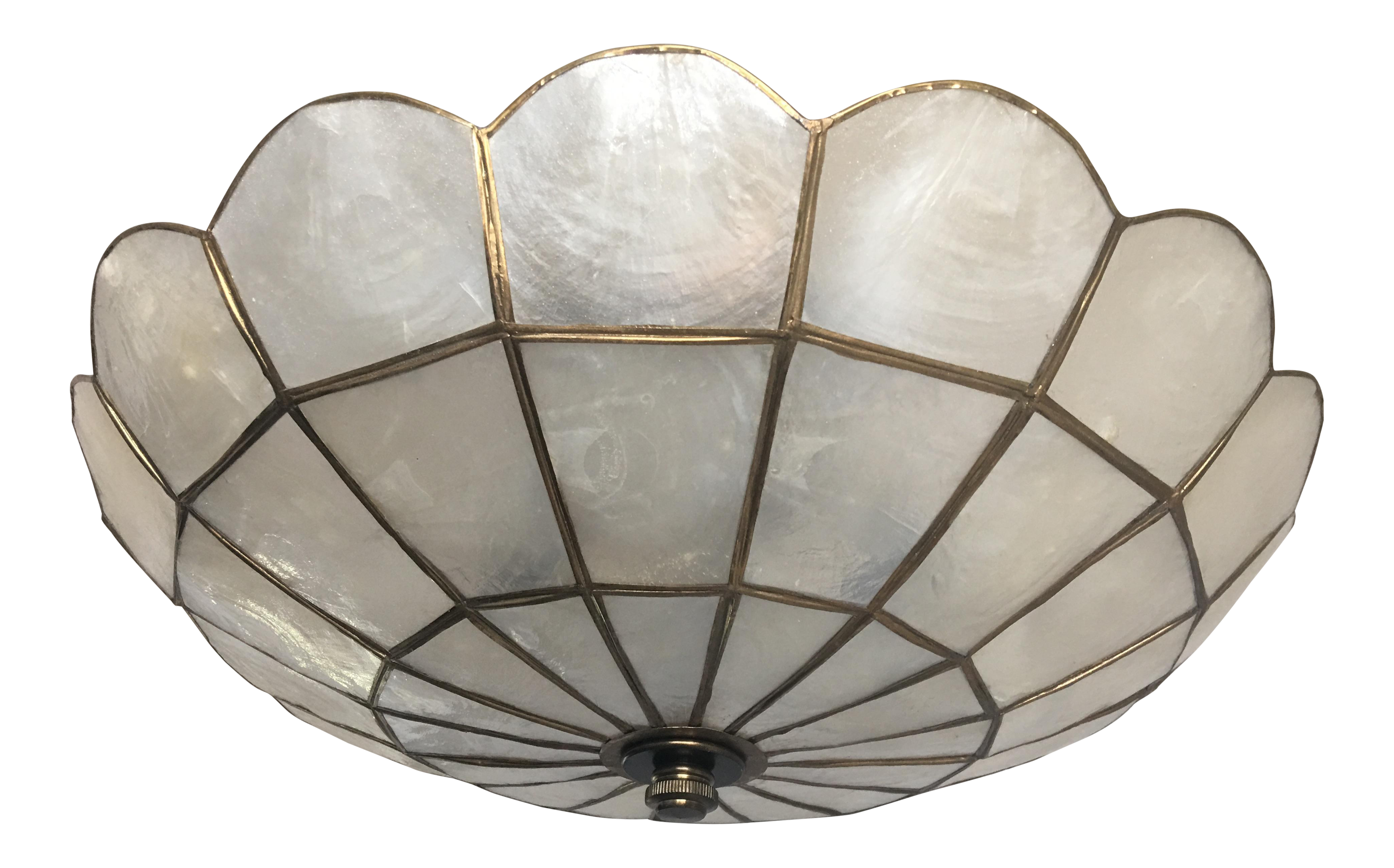 1950s Capiz Shell Ceiling Light Chairish