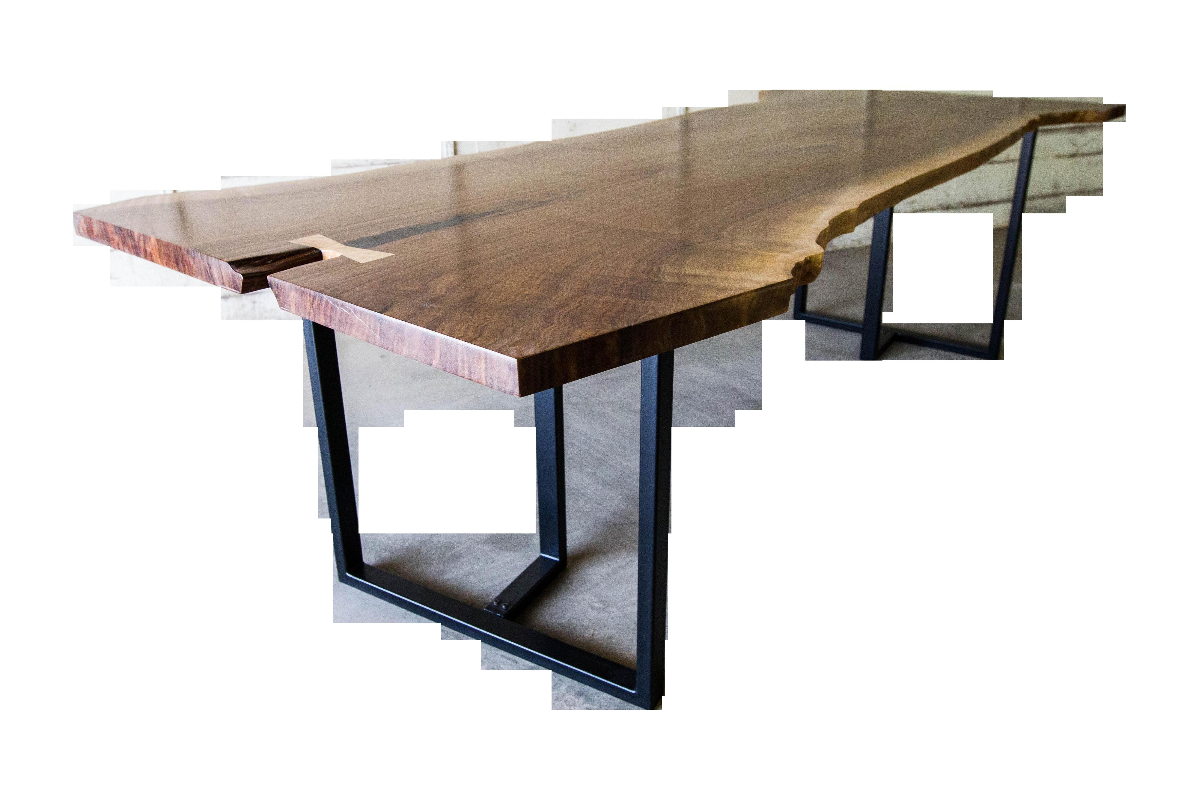 Modern Black Walnut Live Edge Dining Table
