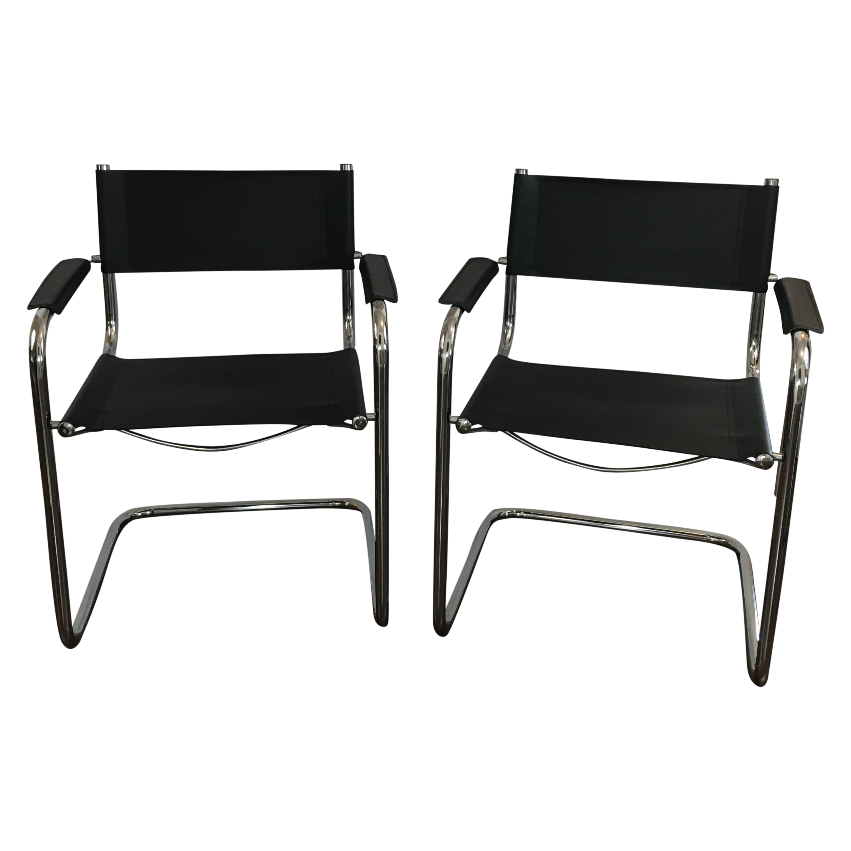 mart stam style cantilever chairs pair chairish. Black Bedroom Furniture Sets. Home Design Ideas