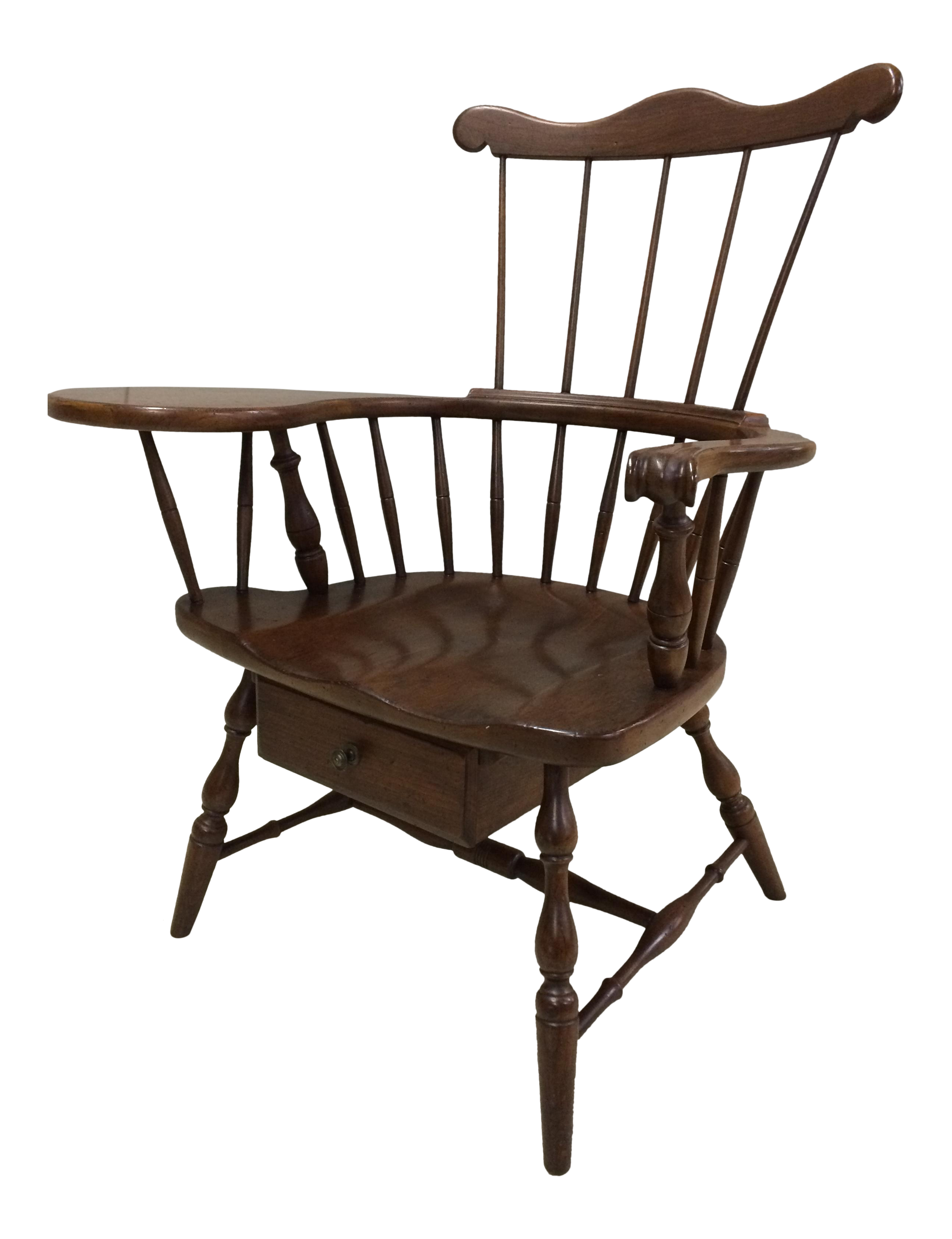 Queen anne chair history - Pennsylvania House Comb Back Windsor Writing Chair