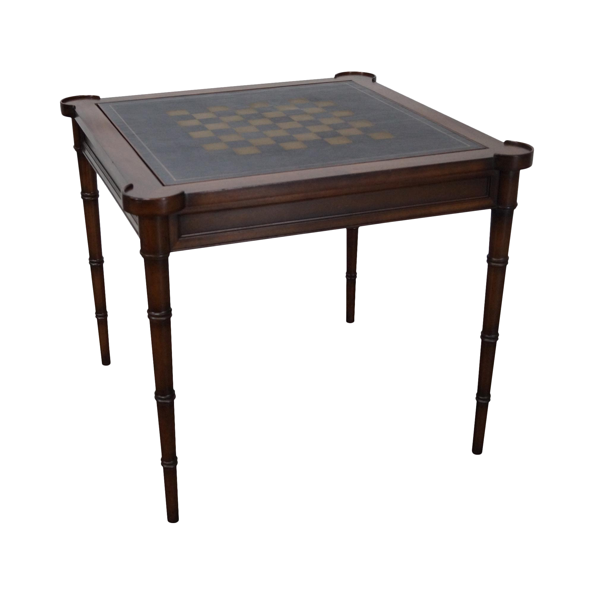 Drexel Heritage Faux Bamboo Leg Reversible Checker Board