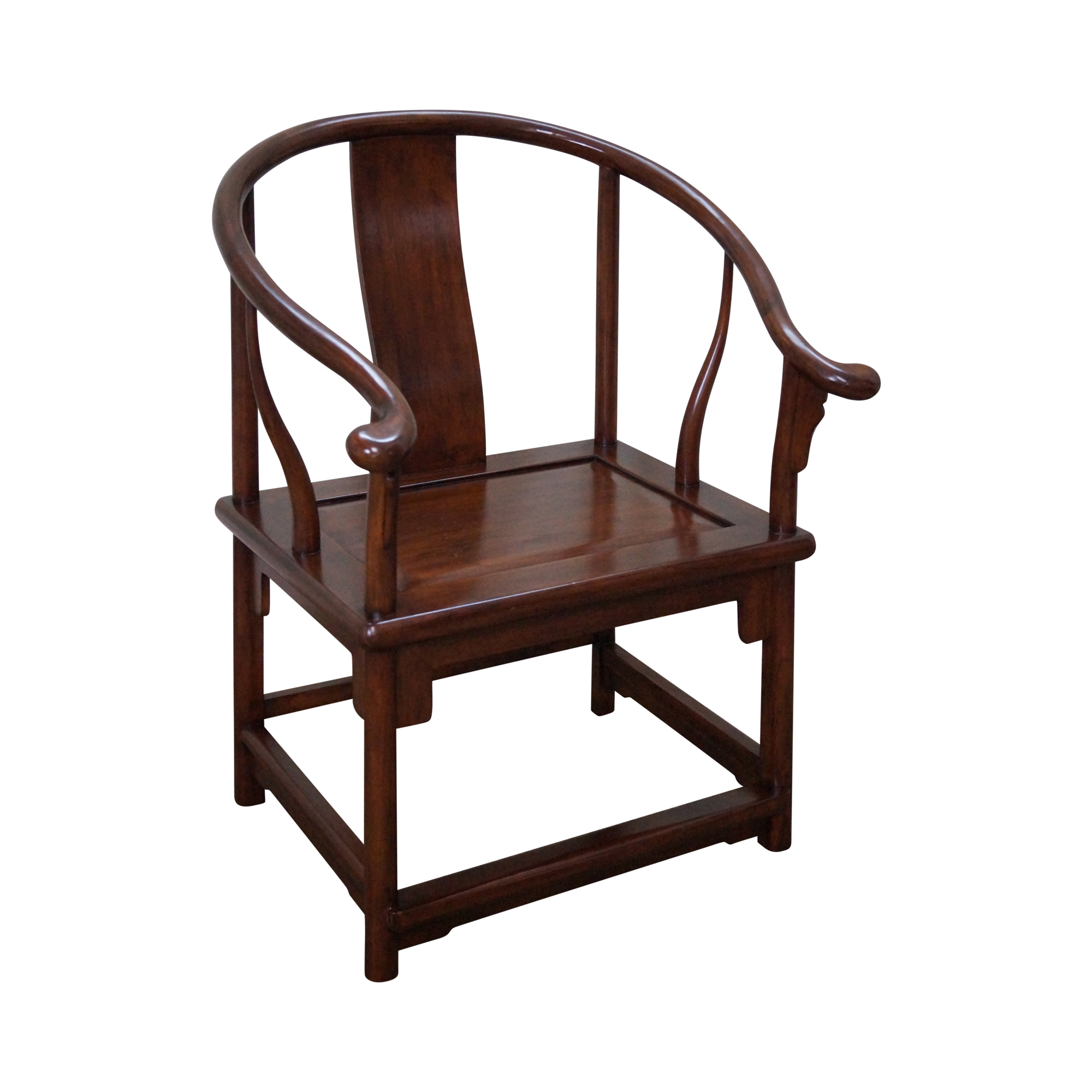 Ming Horseshoe Chinese Arm Chair By Maria Yee Chairish