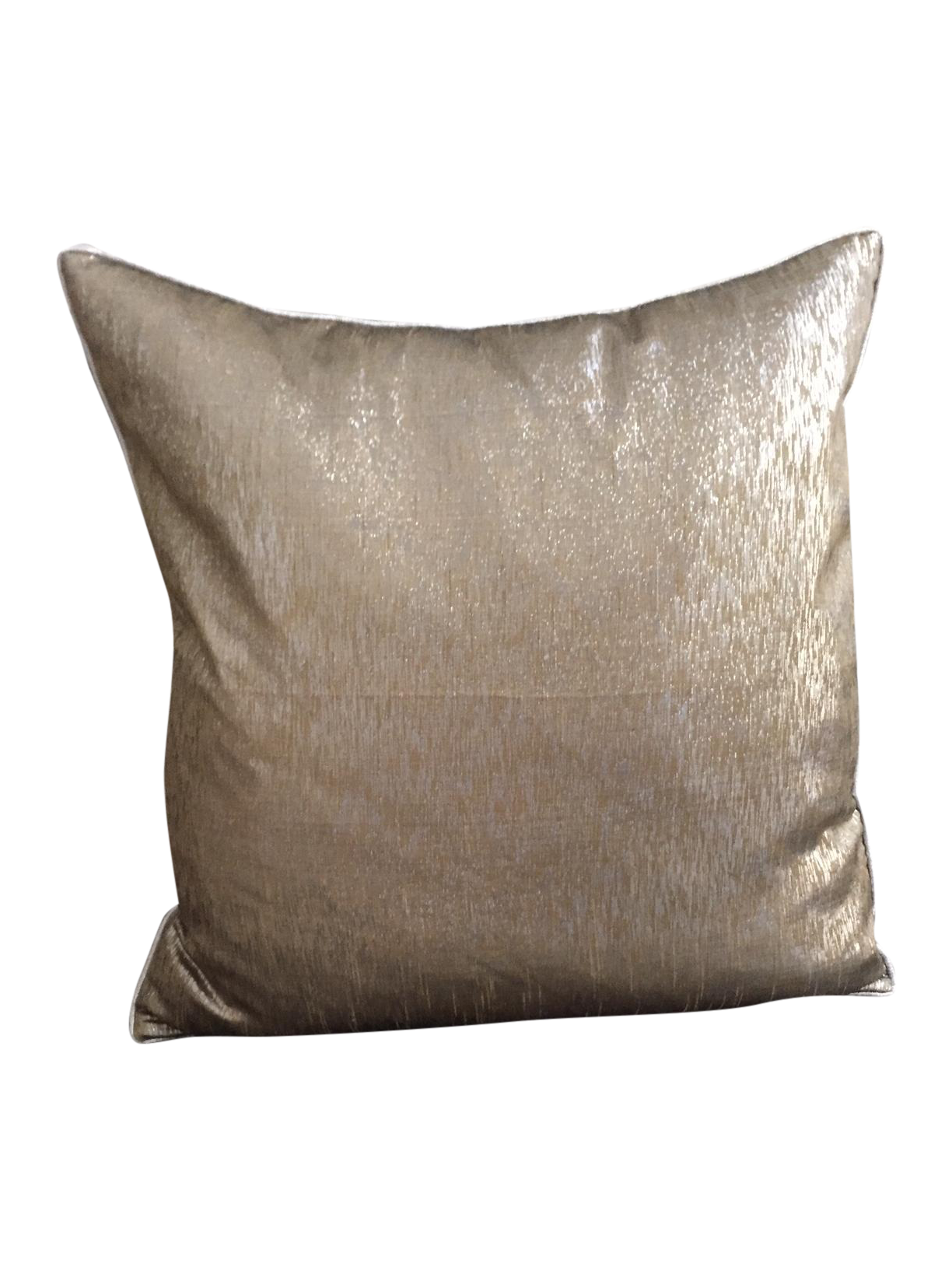 Grey, Silver & Gold Decorative Pillow Chairish