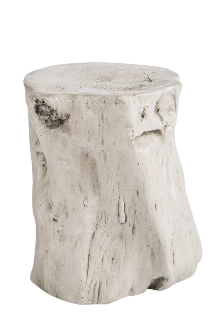 Statements By J Mia White Log Stool Chairish