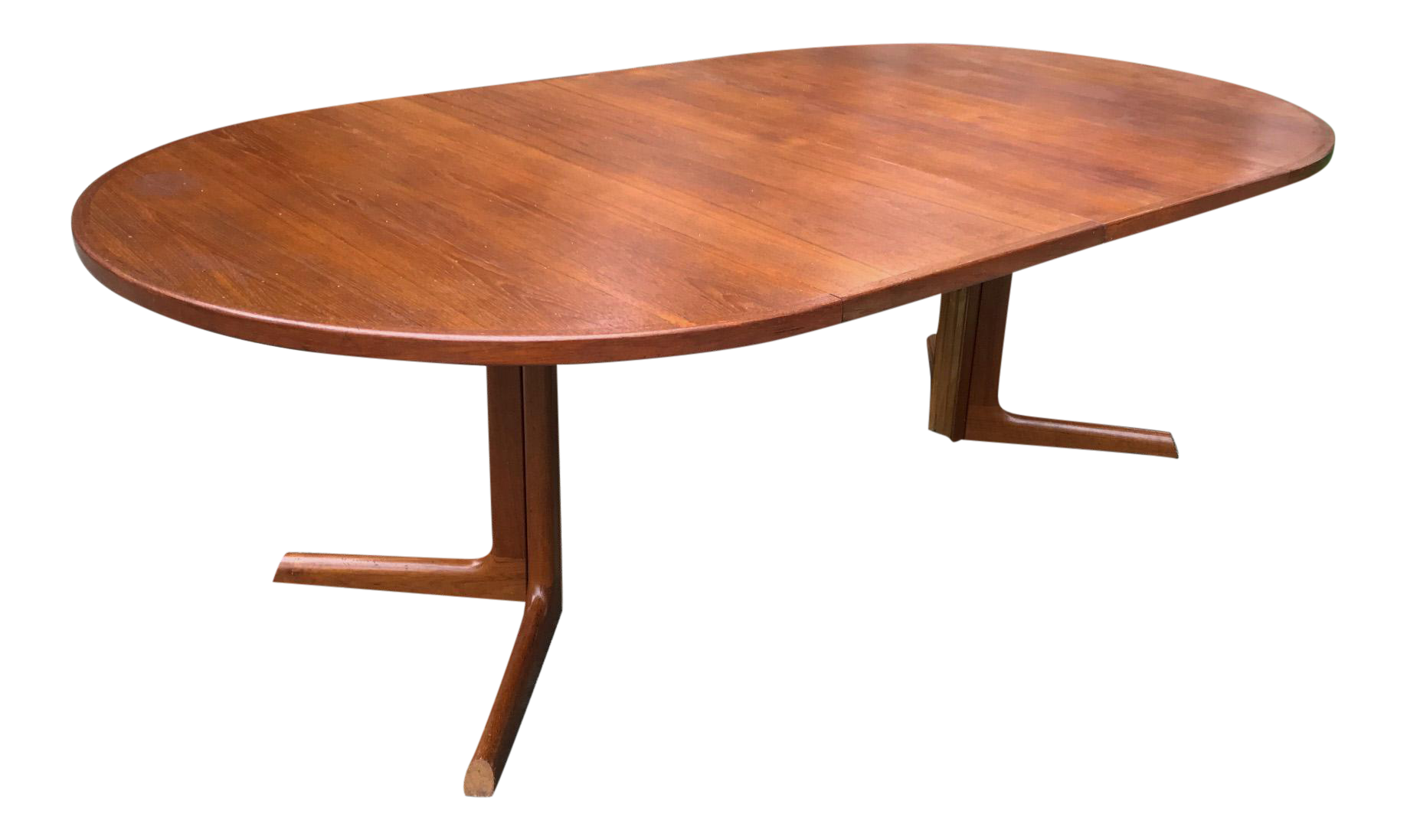 Teak Oval Dining Table Vintage Used Danish Modern Dining Tables Chairish
