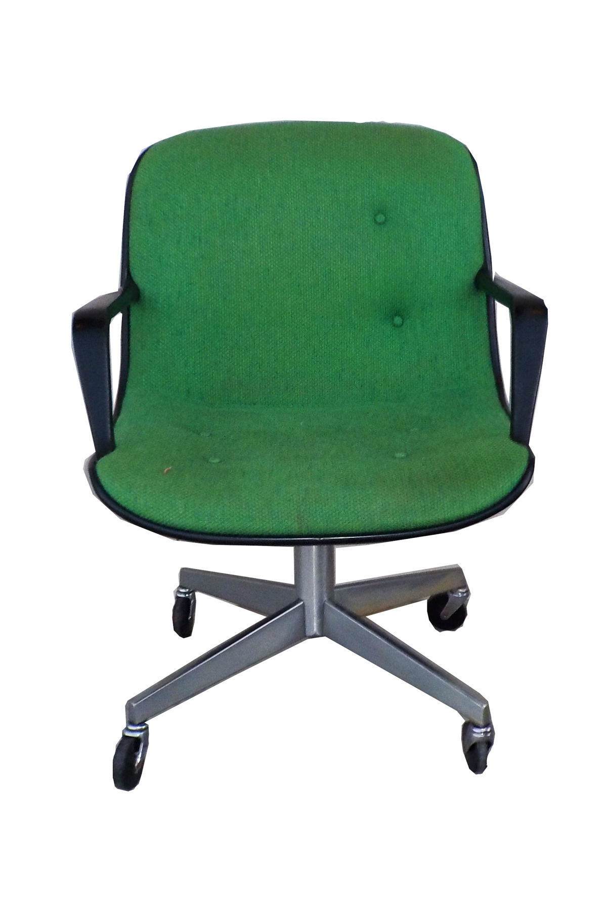 mid-century modern steelcase vintage green office chair | chairish