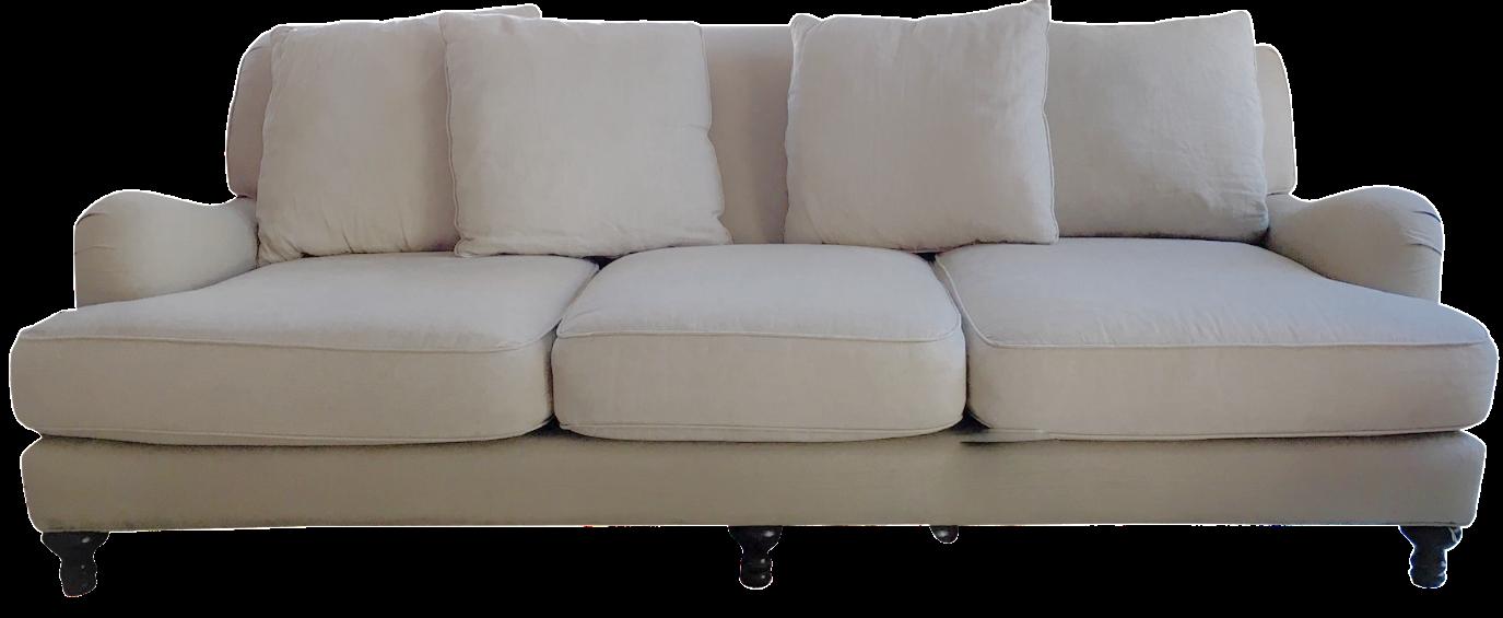 Restoration Hardware Linen Sofa Chairish