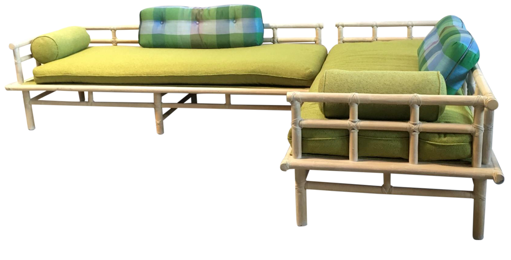 Mcguire Rattan Daybed Set Chairish