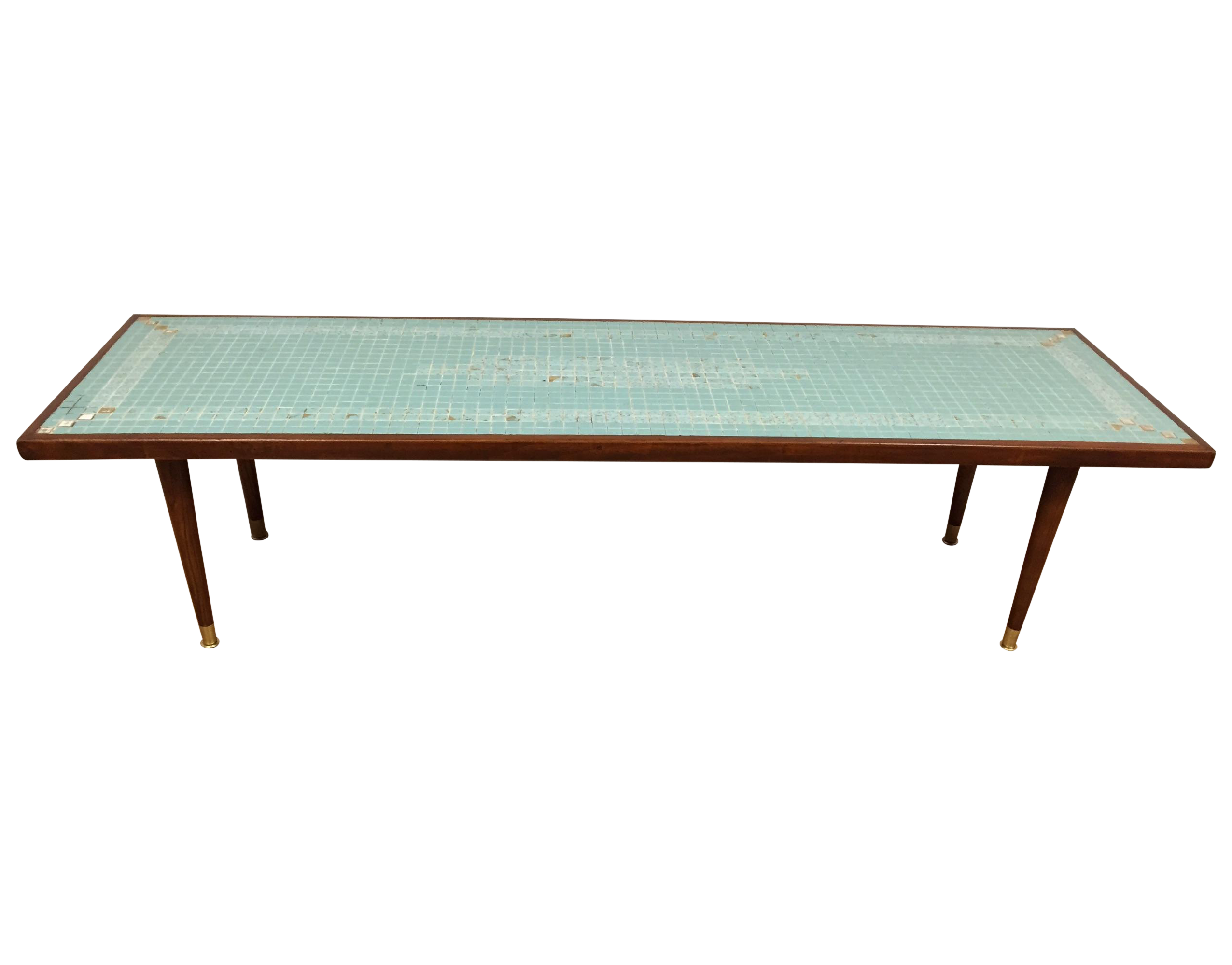 Tile top coffee table find best seller coffee table image of mid century tile top coffee table geotapseo Choice Image