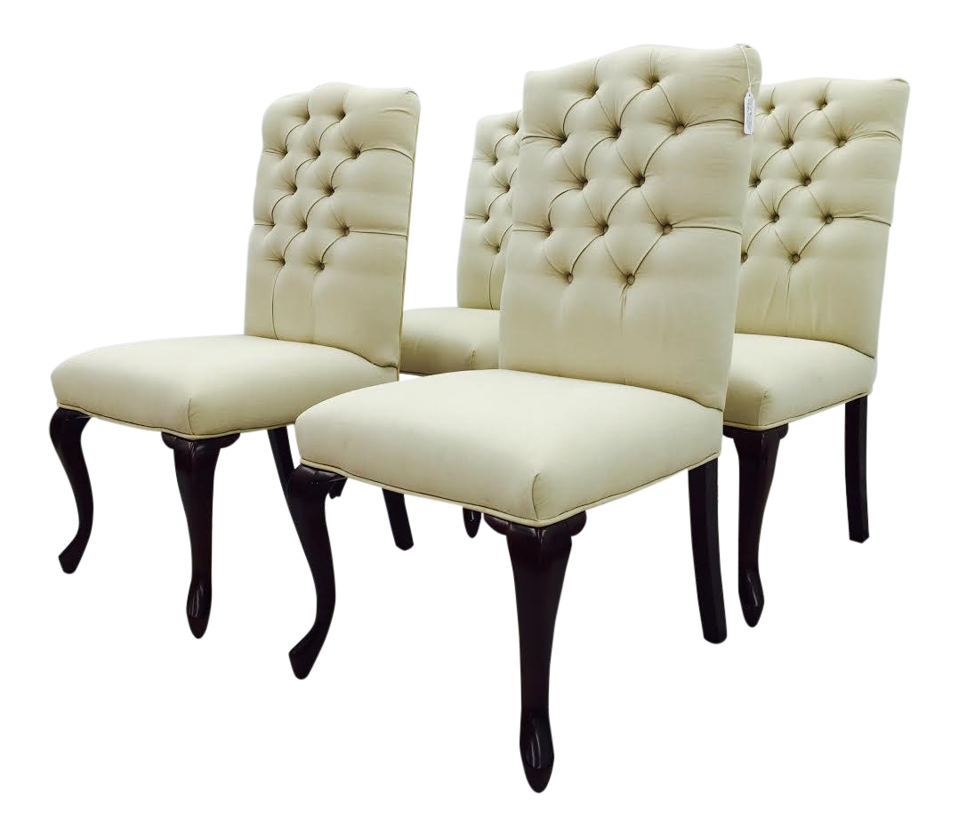 Button Back Dining Chairs Set Of 4 Chairish