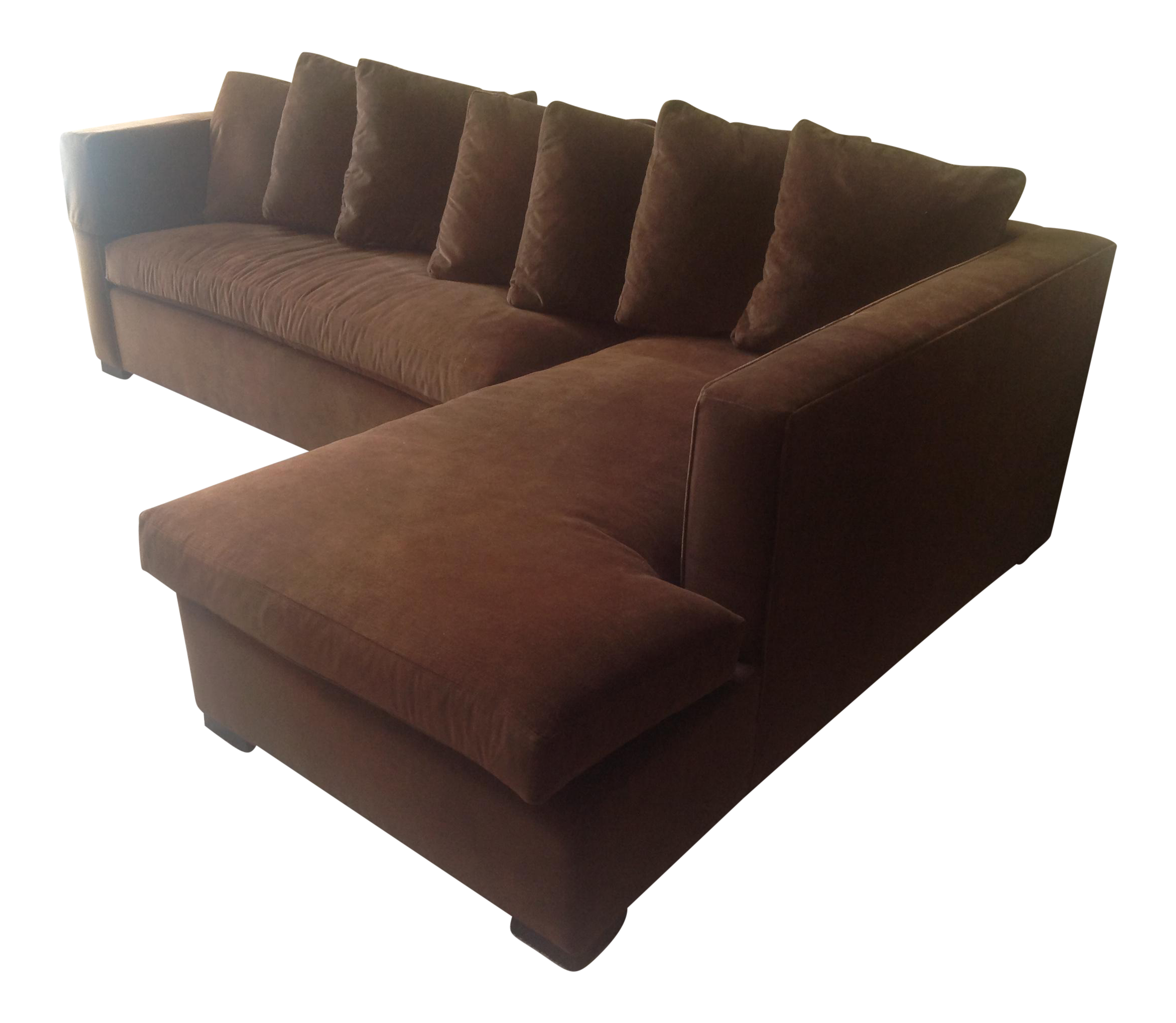 Hickory Chair Thomas Obrien For Hickory Chair Chocolate Brown Chaise Sectional