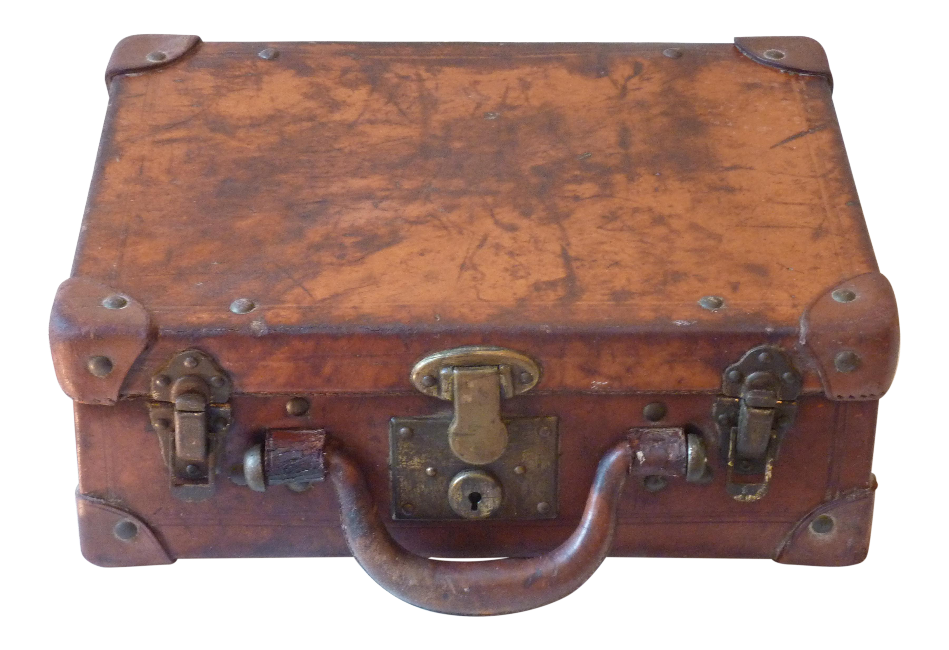 Small Leather Suitcase | Chairish