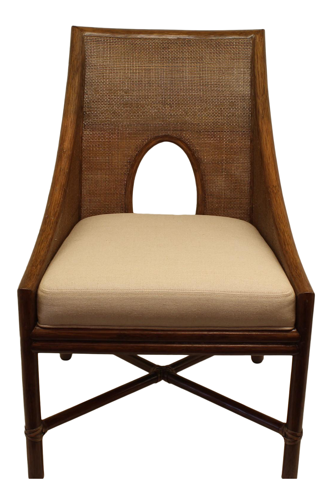Mcguire Barbara Barry Petite Caned Arm Chair Chairish