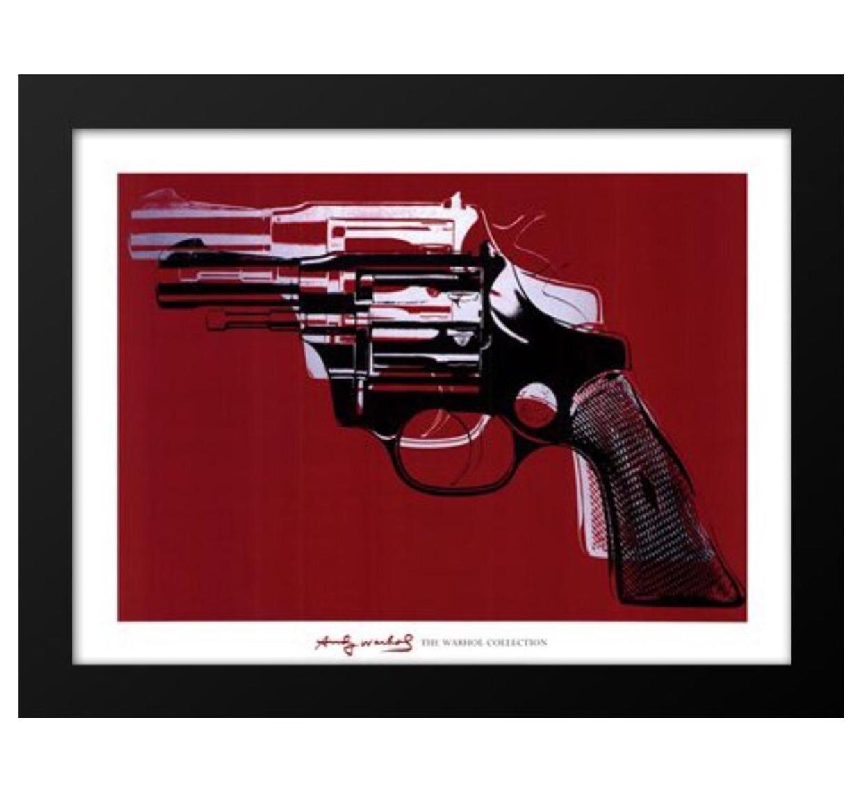 1981 Gun Andy Warhol Framed Print Chairish