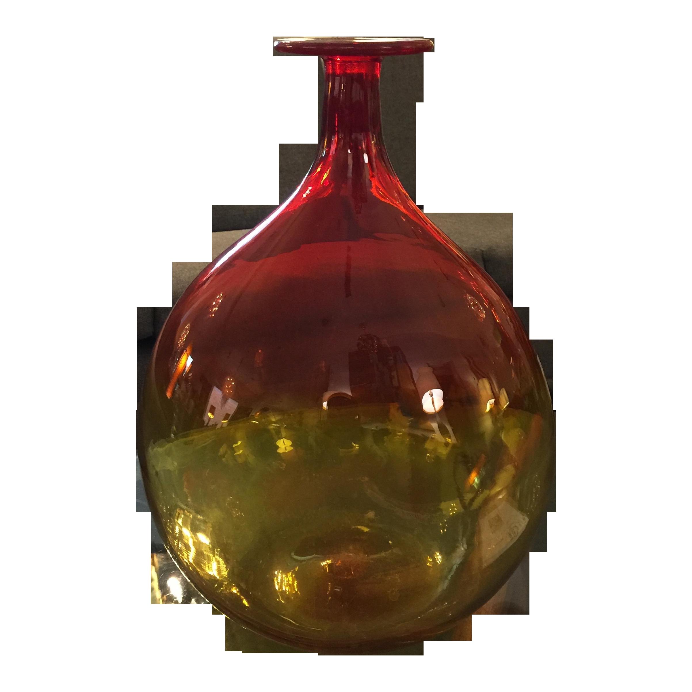 Blenko Hand Blown Art Glass Vase Chairish