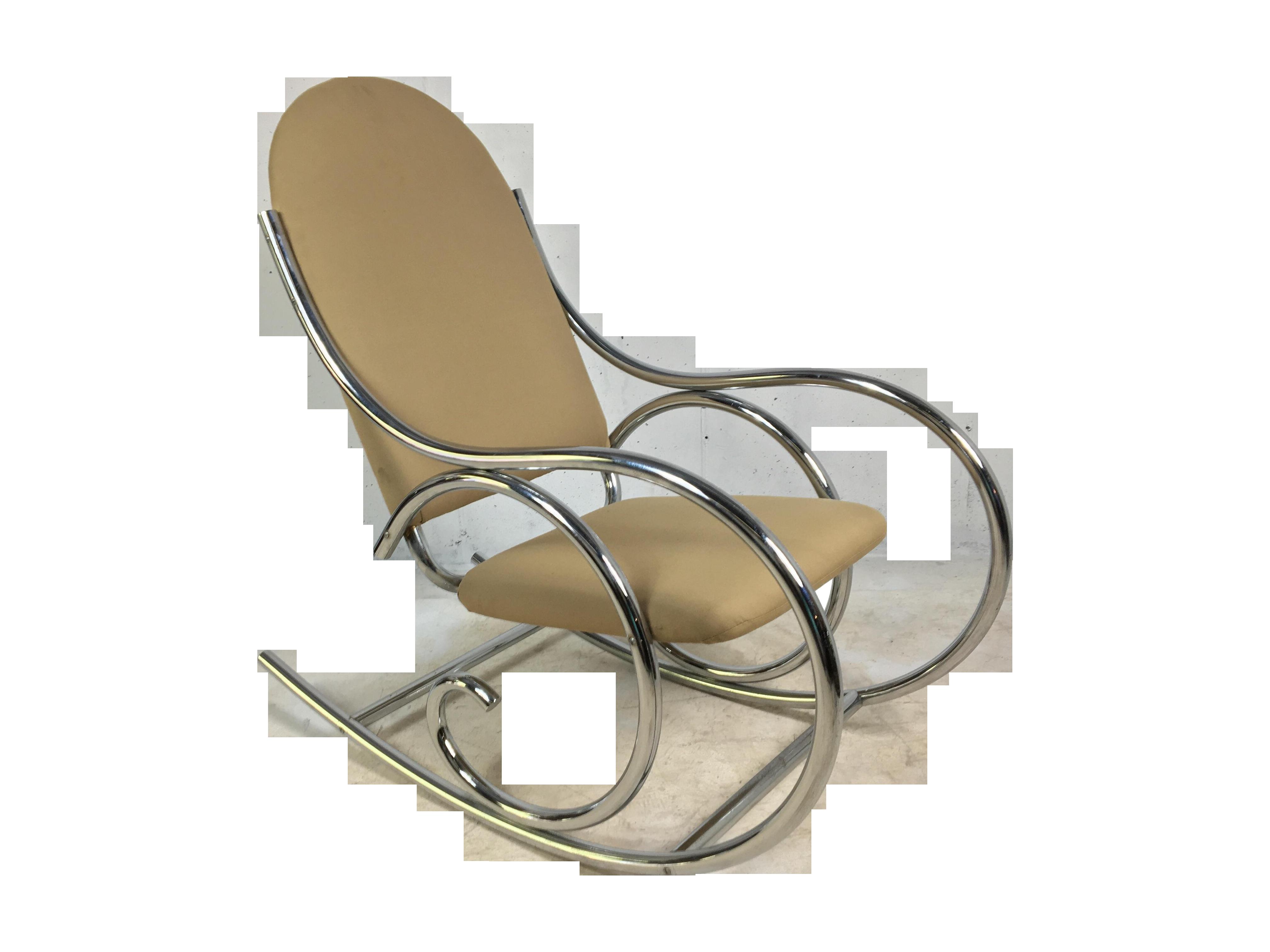 Modern chrome rocker in the style of michael thonet chairish for Sofa global 6450