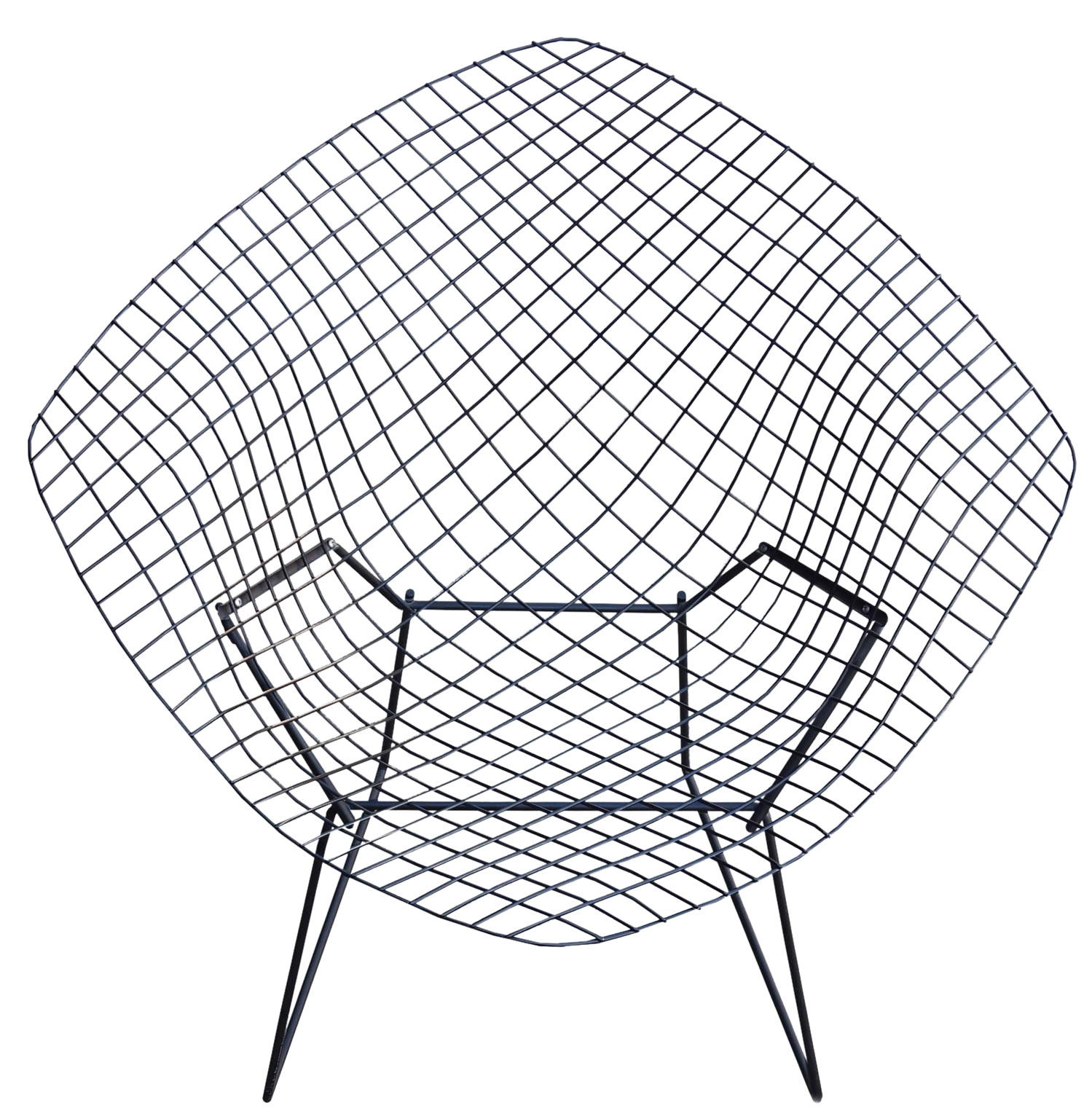 Bertoia diamond chair black - Image Of Knoll Mid Century Harry Bertoia Diamond Chair