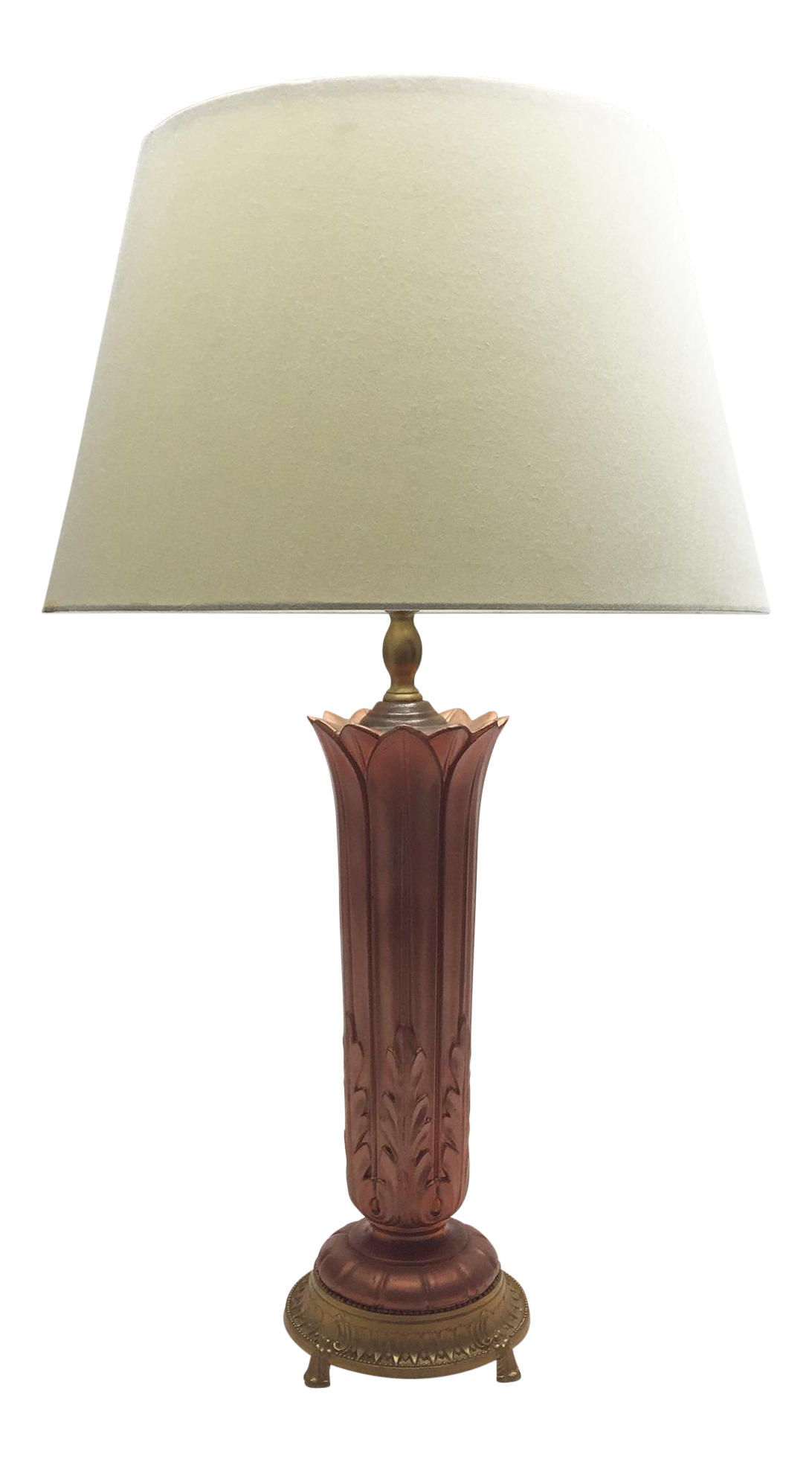 Vintage Acanthus Detailed Table Lamp Chairish