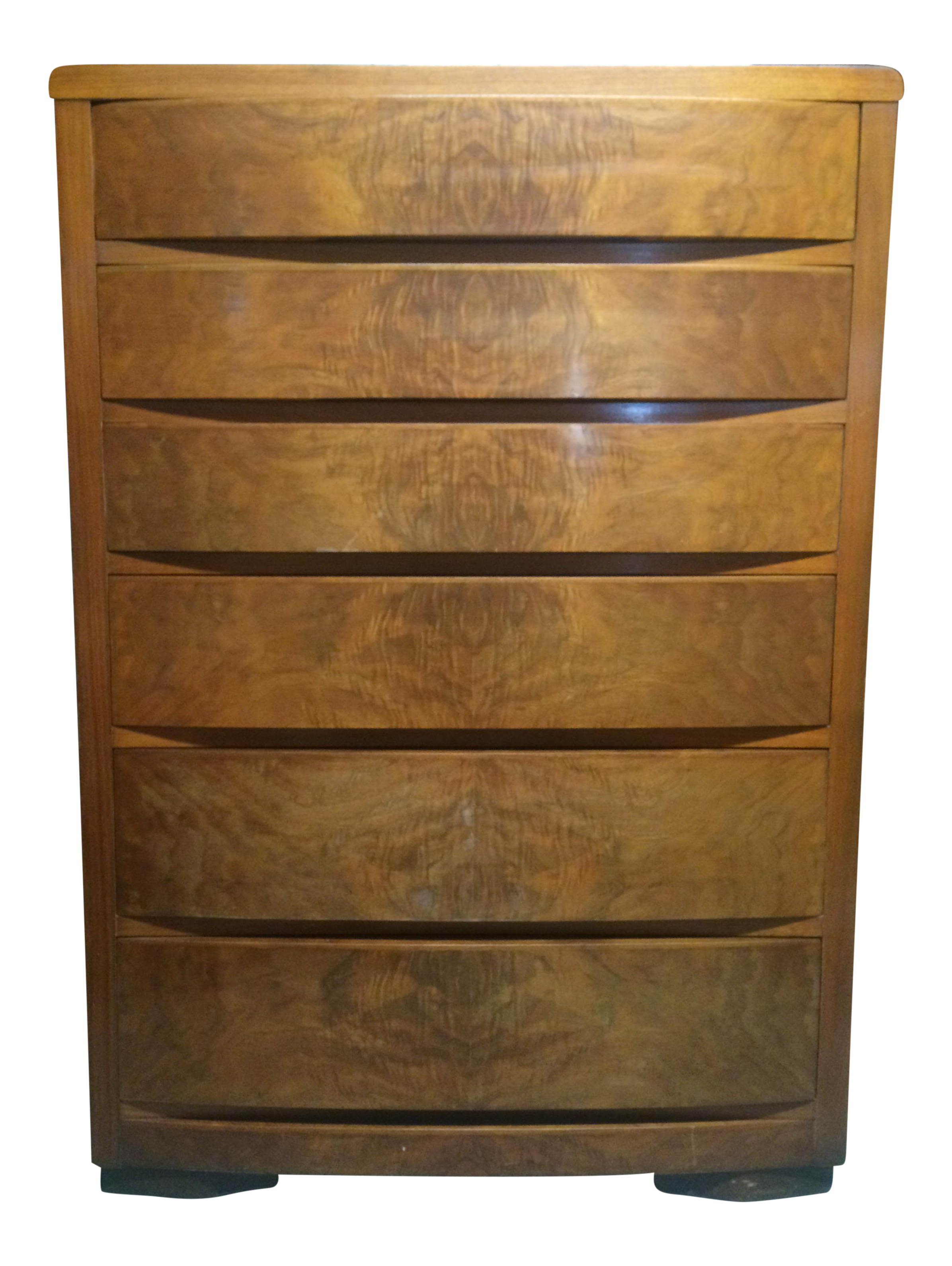 Image of Tri Bond III Burl Wood Dresser. Tri Bond III Burl Wood Dresser   Chairish