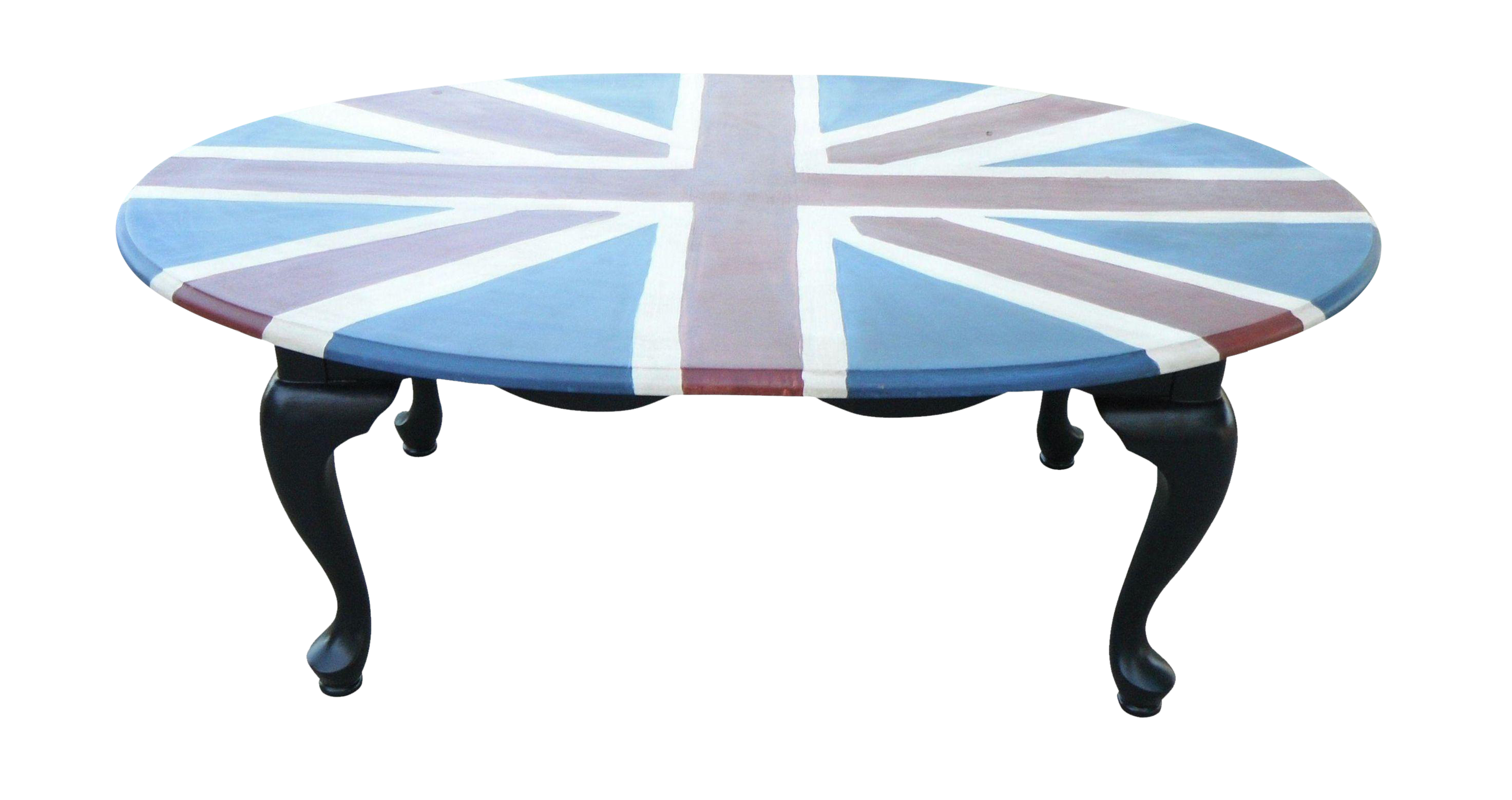 Union Jack Hand Painted Coffee Table Chairish