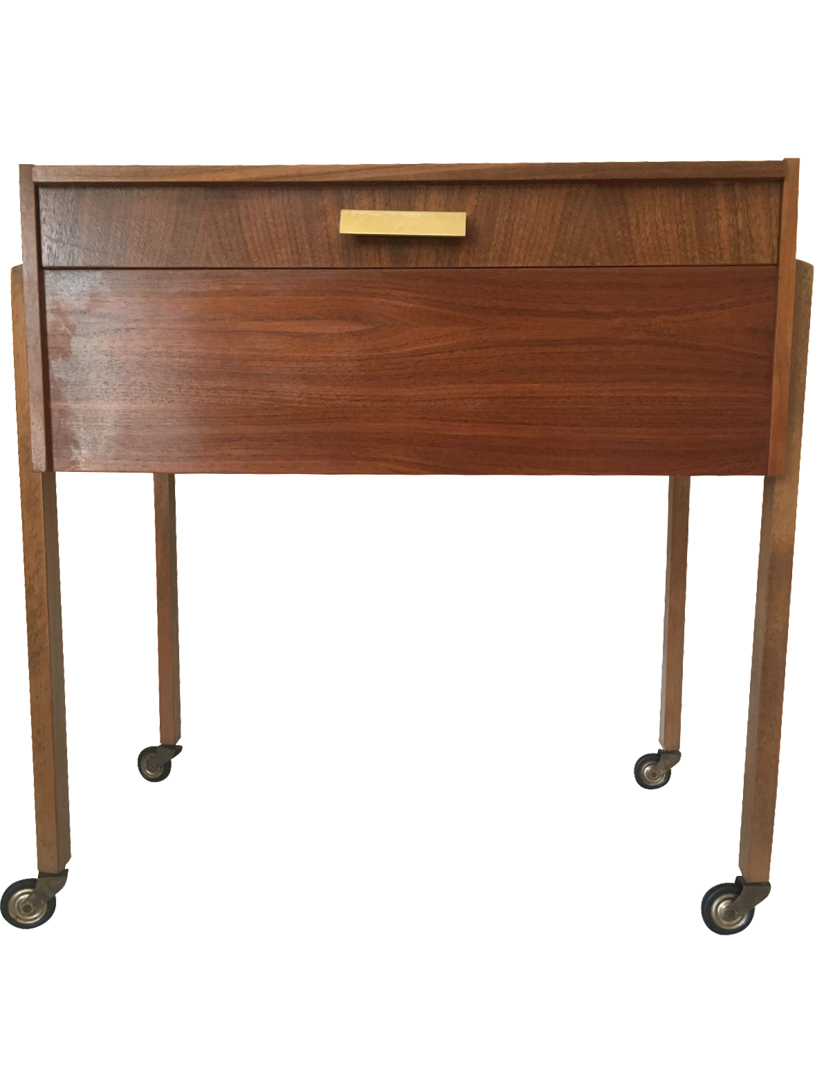 Danish Modern Teak Sewing Table Box Chairish